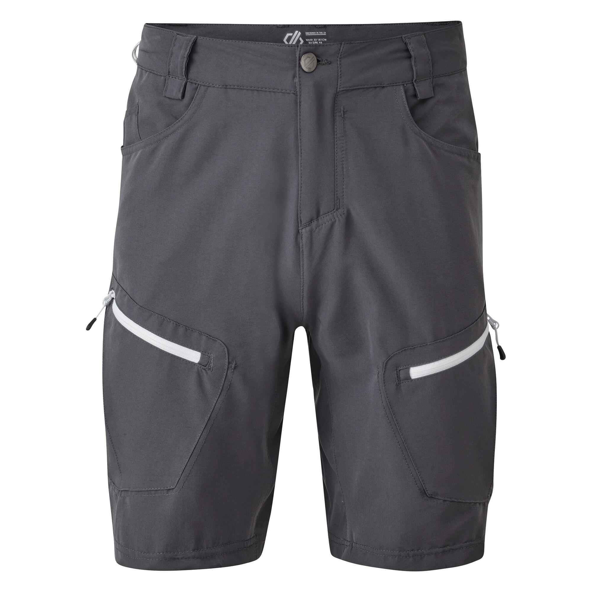 Dare 2B Mens Tuned In II Multi Pocket Walking Shorts (42in) (Ebony Grey)