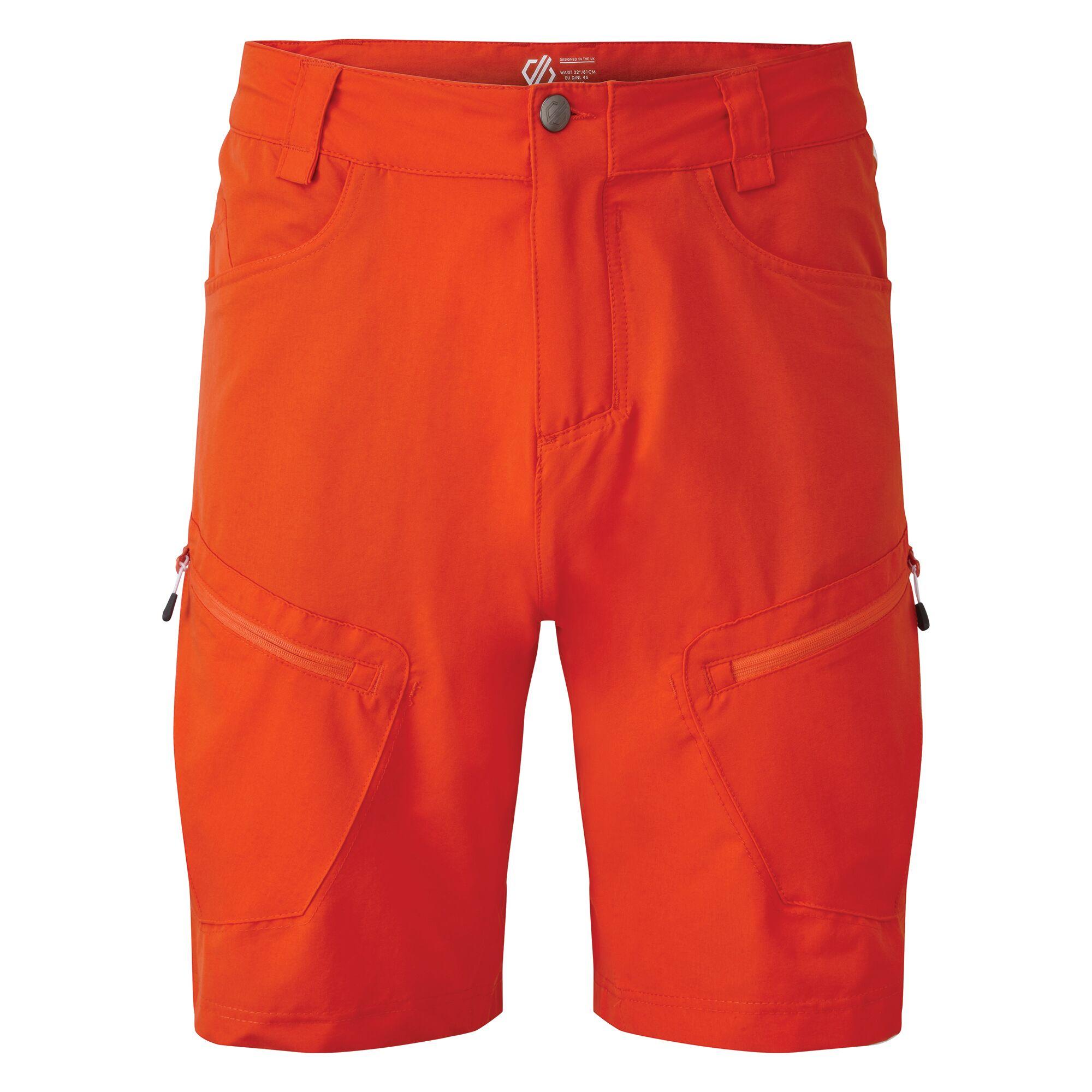Dare 2B Mens Tuned In II Multi Pocket Walking Shorts (32in) (Trail Blaze Red)