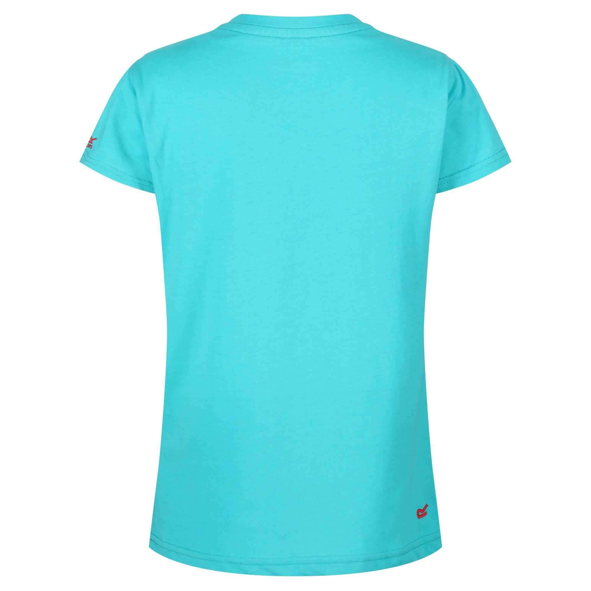 Regatta Kids/' Bosley II Graphic Print T-Shirt Blue