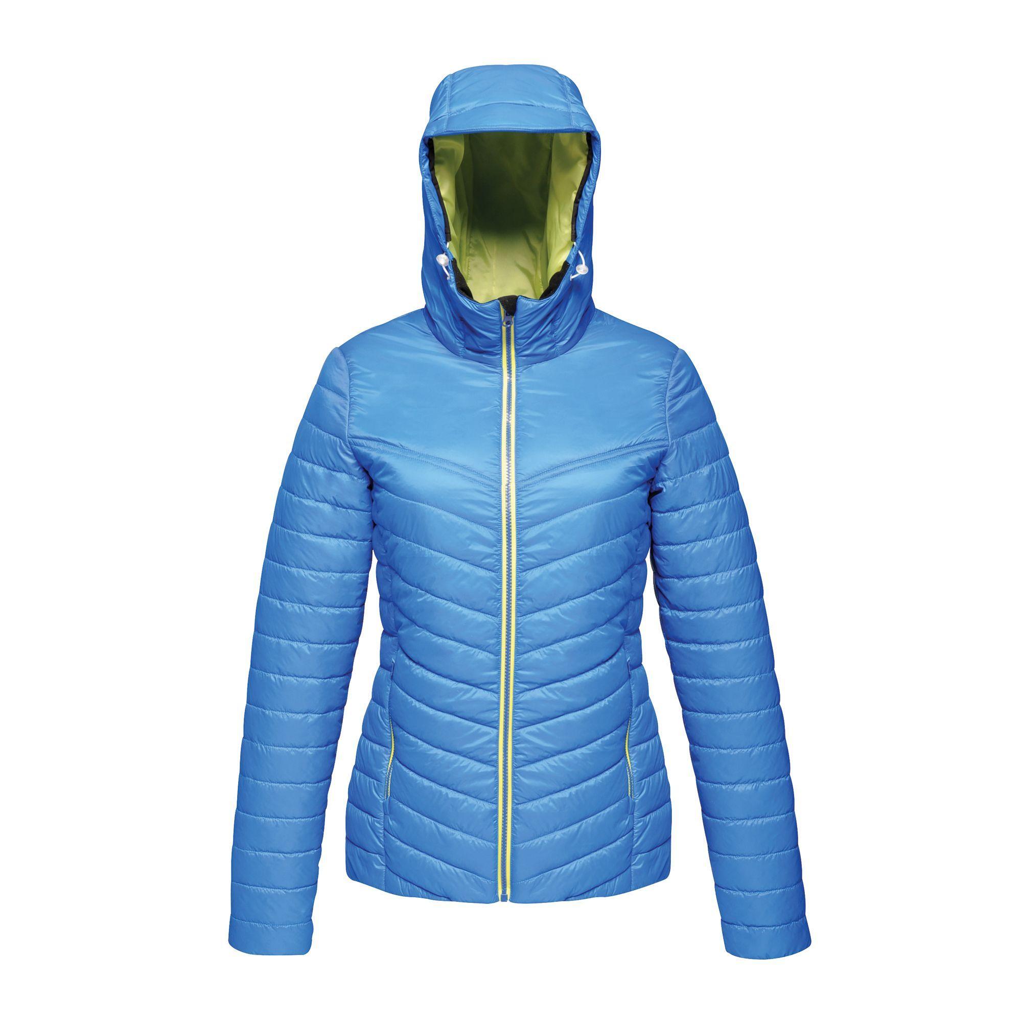 Regatta Womens/Ladies Acadia II Jacket (18 UK) (Oxford Blue/Neon Spring)