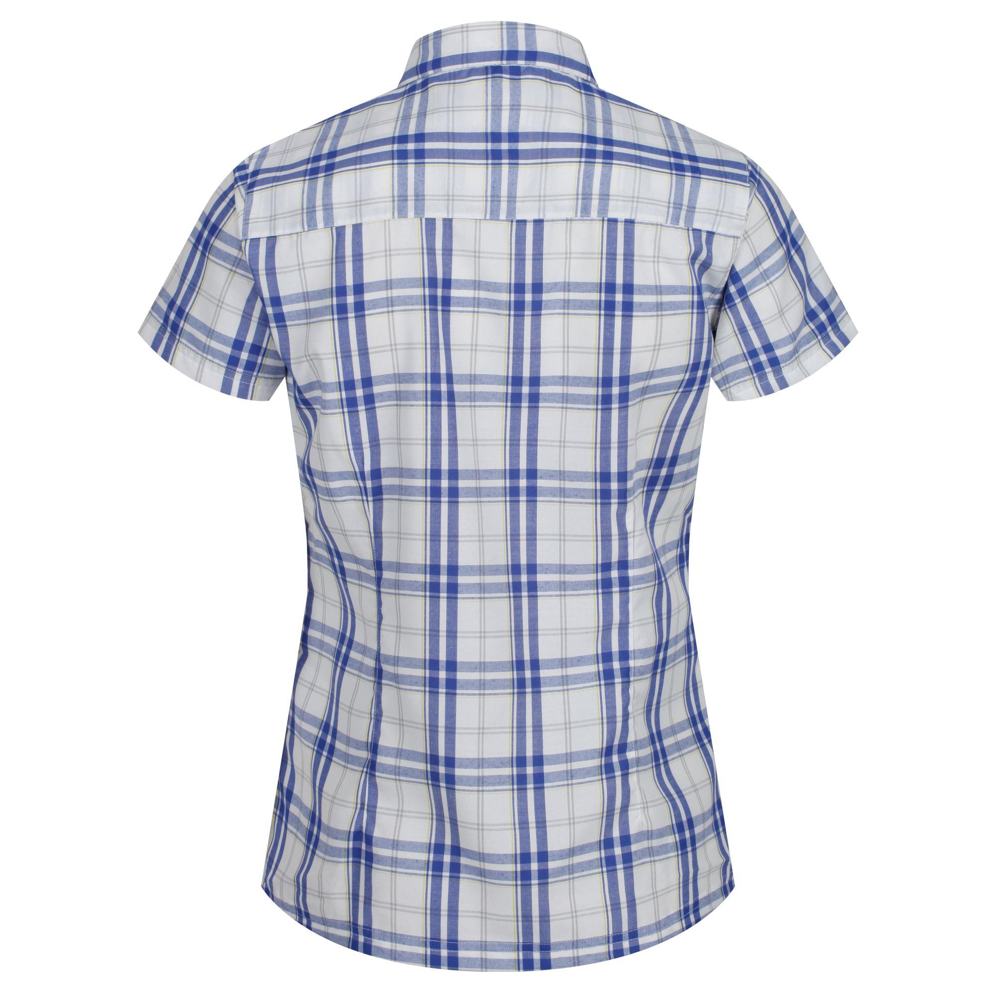 Regatta-Womens-Ladies-Mindano-IV-Short-Sleeve-Checked-Shirt-RG4253 thumbnail 4