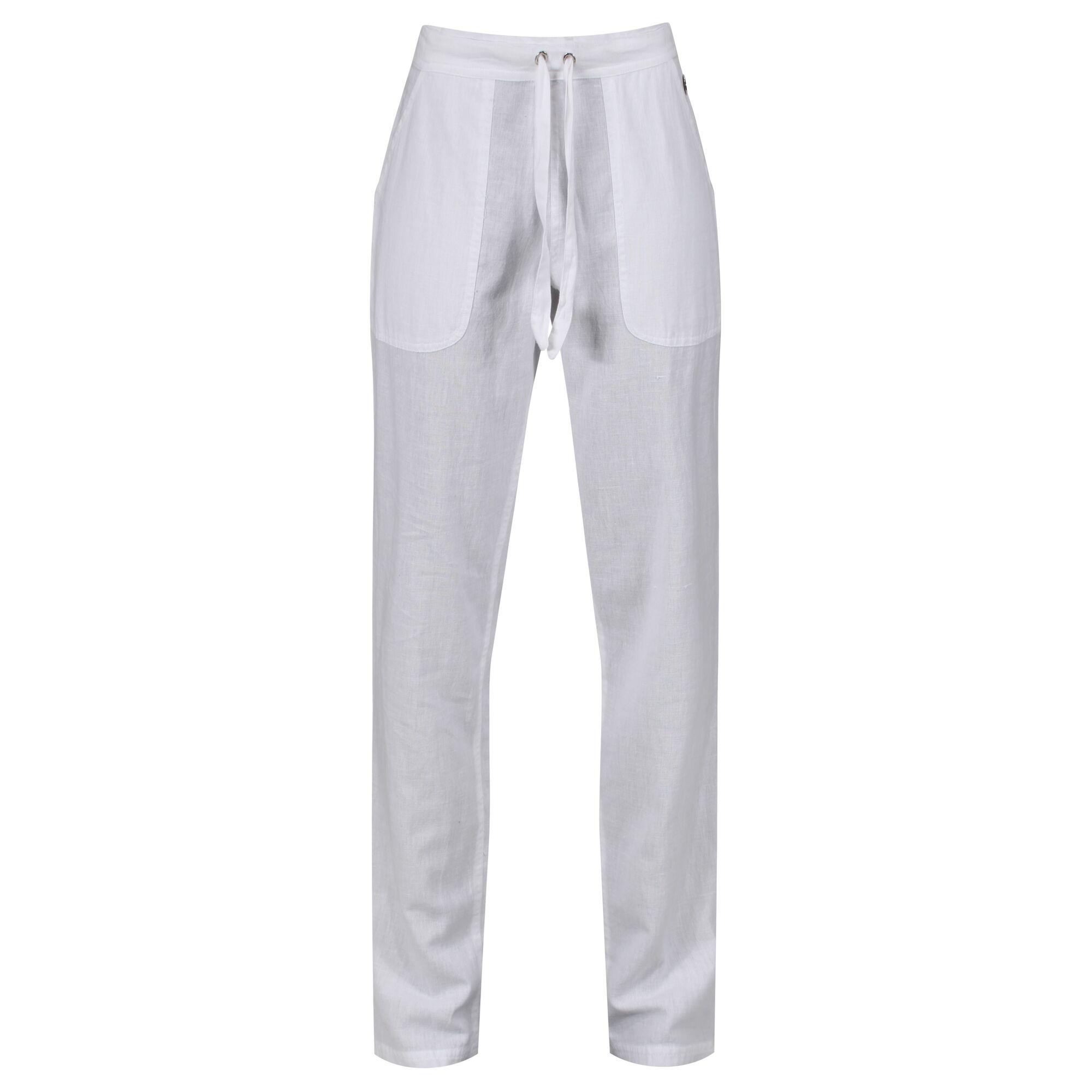 Regatta Womens/Ladies Quanda Coolweave Cotton Trousers (10 UK) (White)