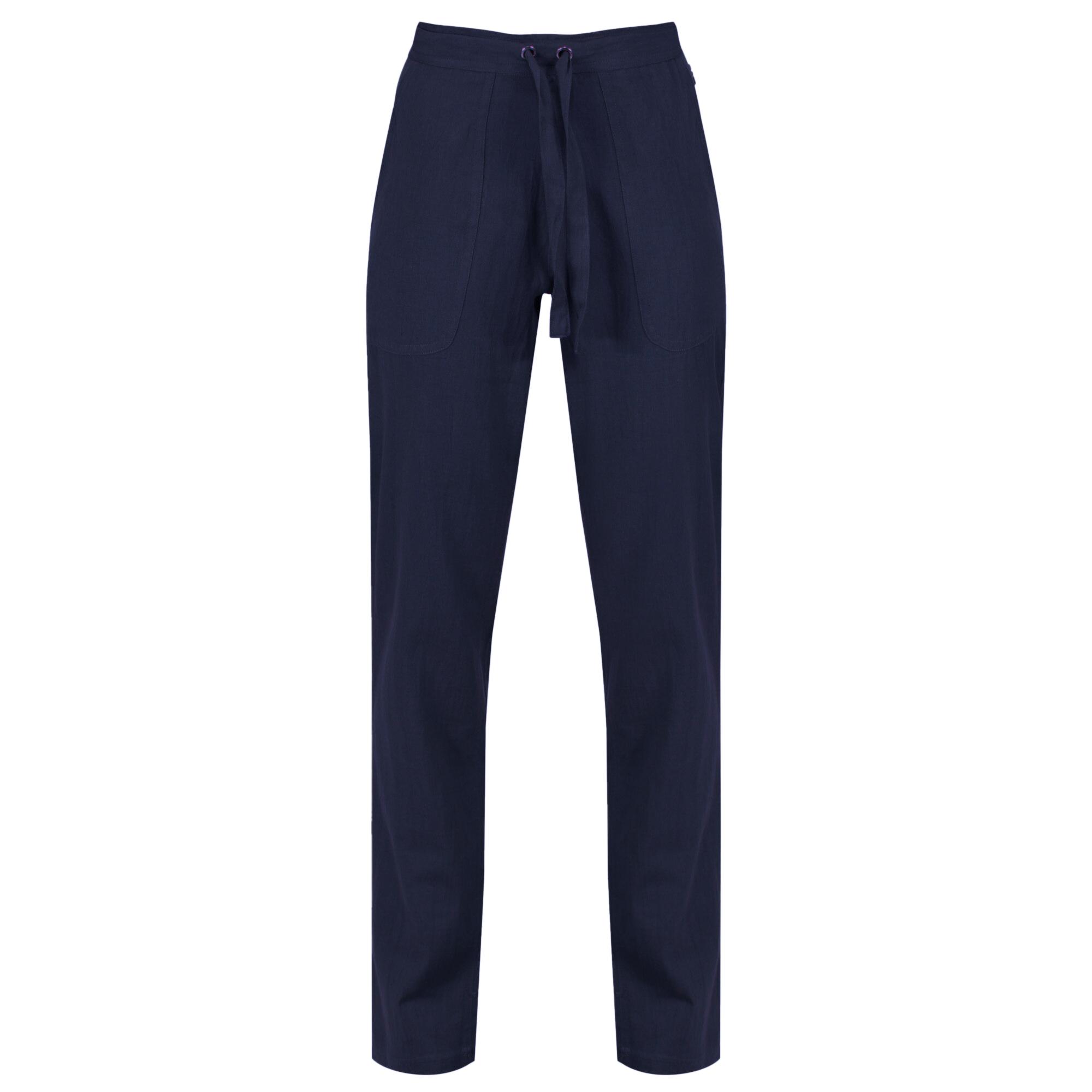 Regatta Womens/Ladies Quanda Coolweave Cotton Trousers (16 UK) (Navy)