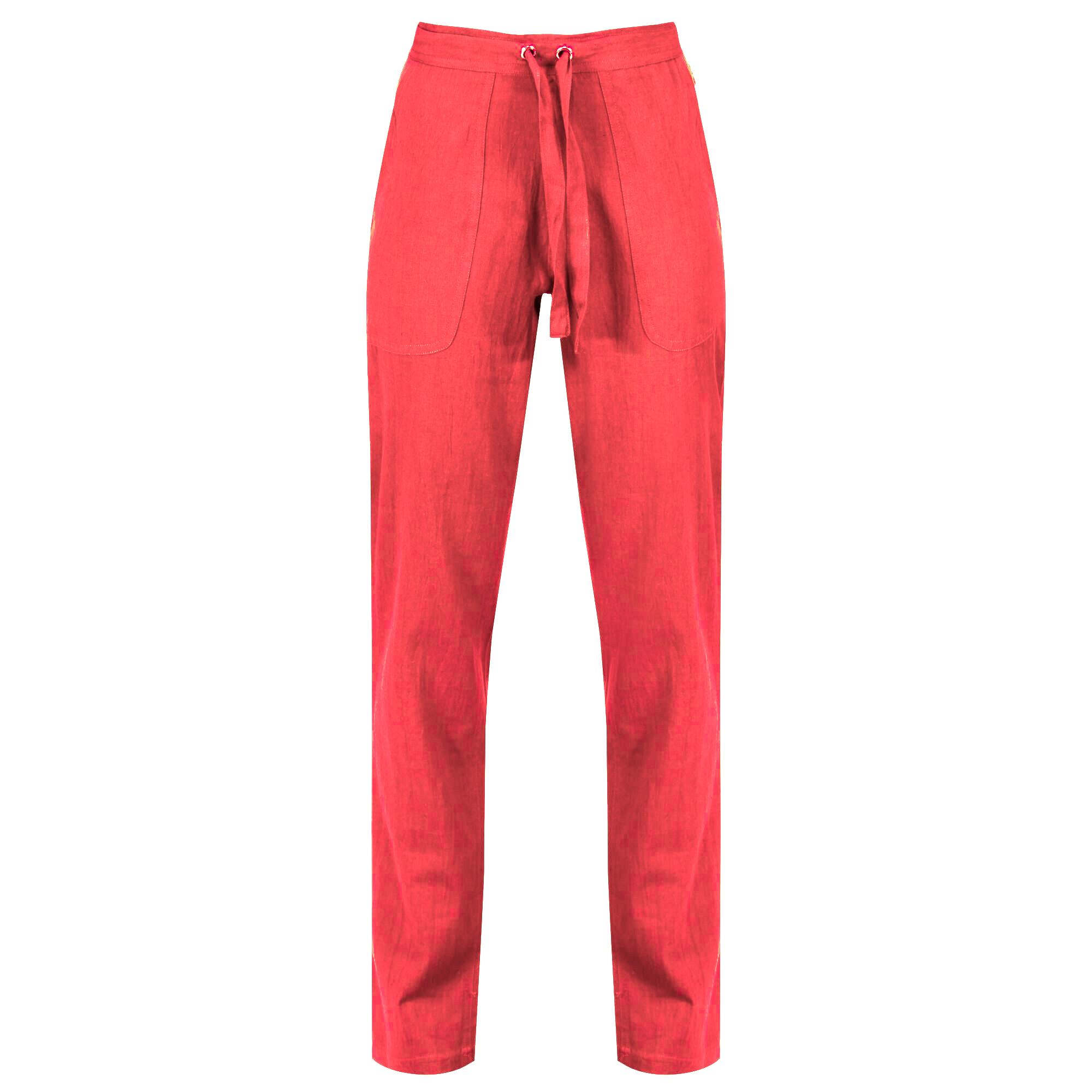 Regatta Womens/Ladies Quanda Coolweave Cotton Trousers (18 UK) (Red Sky)