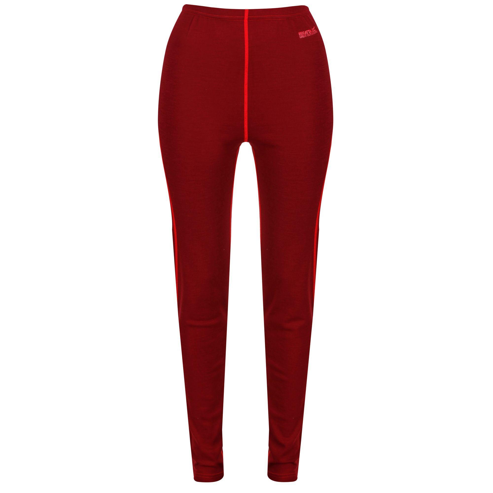 Regatta Womens/Ladies Zimba Base Layer Leggings (8 UK) (Tibetan Red)