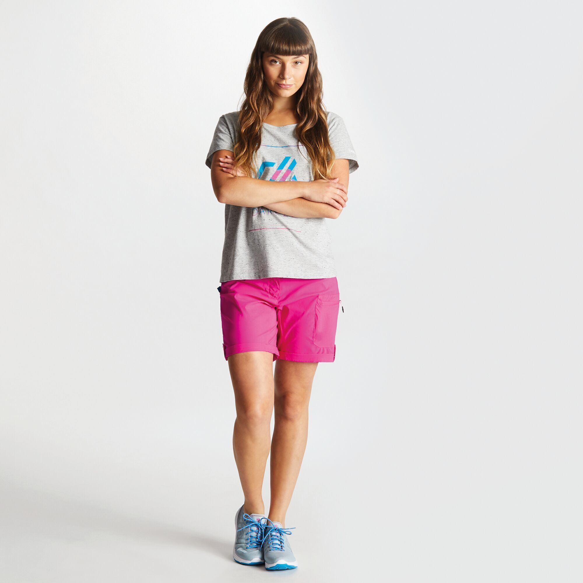 Dare2b Womens/Ladies Melodic II Multi Pocket Walking Shorts (16 UK) (Lunar Purple)