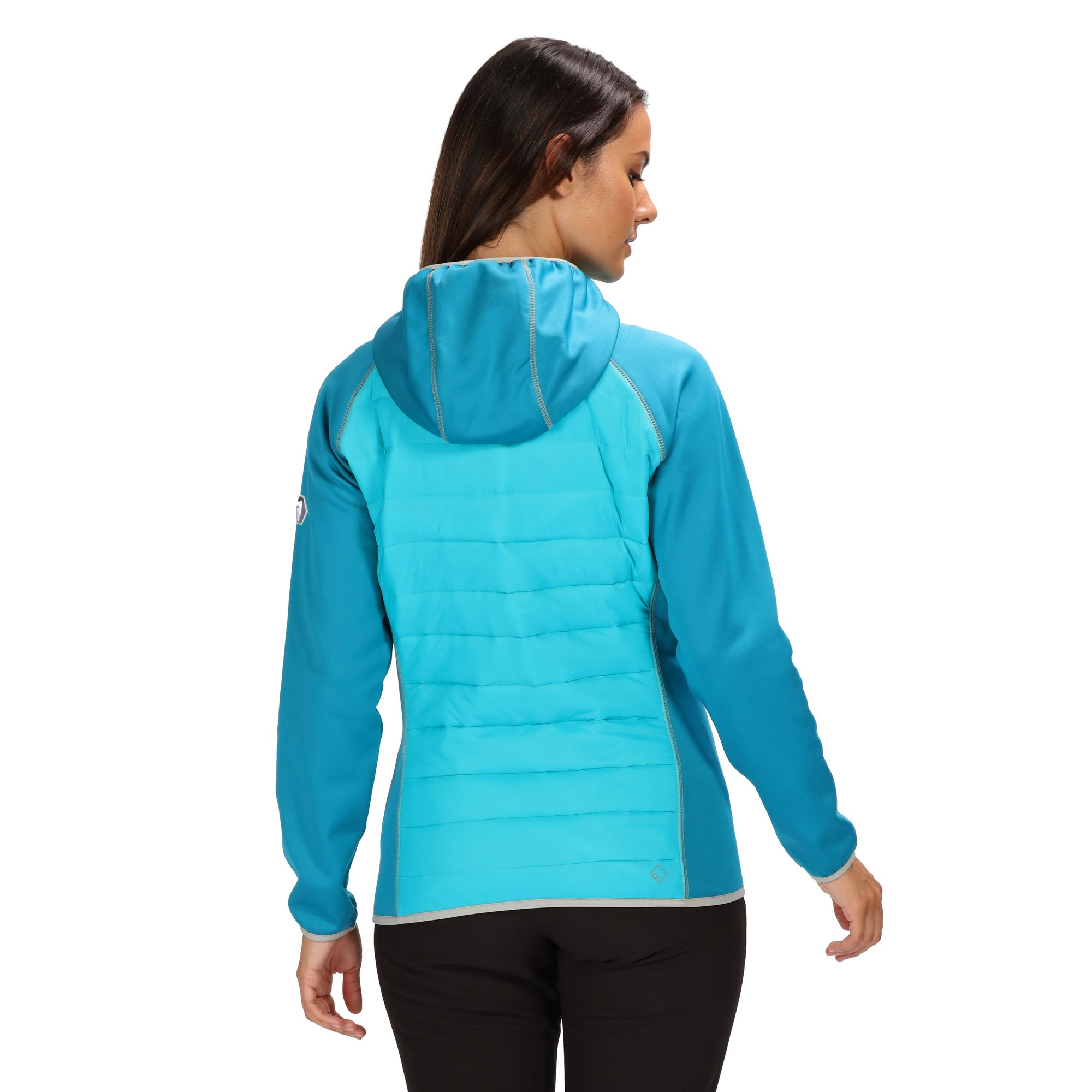 Regatta Womens Andreson Iv Showerproof Lightweight Insulated Hybrid Down Hooded Baffled//Quilted Jackets