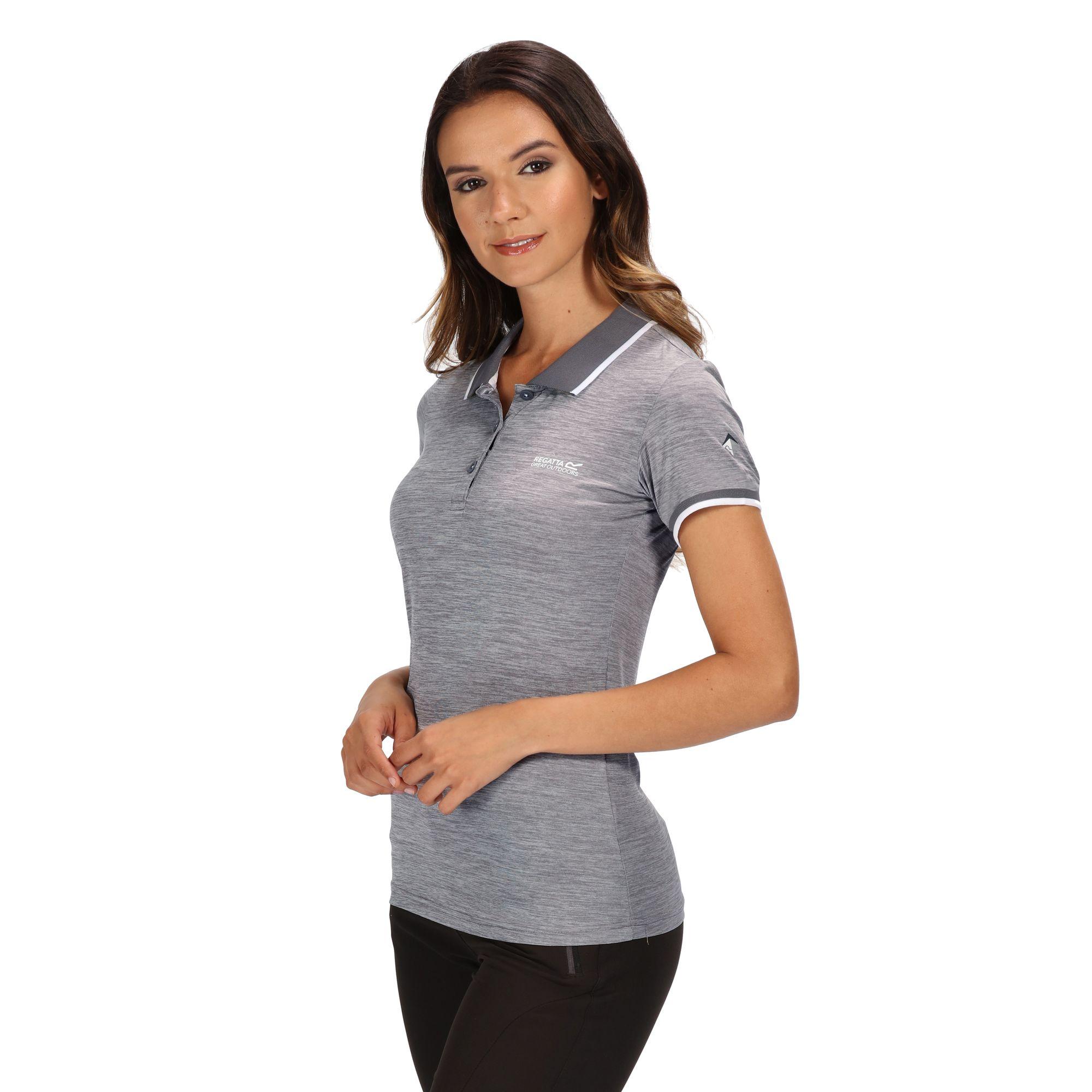 Regatta-Womens-Ladies-Remex-II-Polo-Neck-T-Shirt-RG4477 thumbnail 15