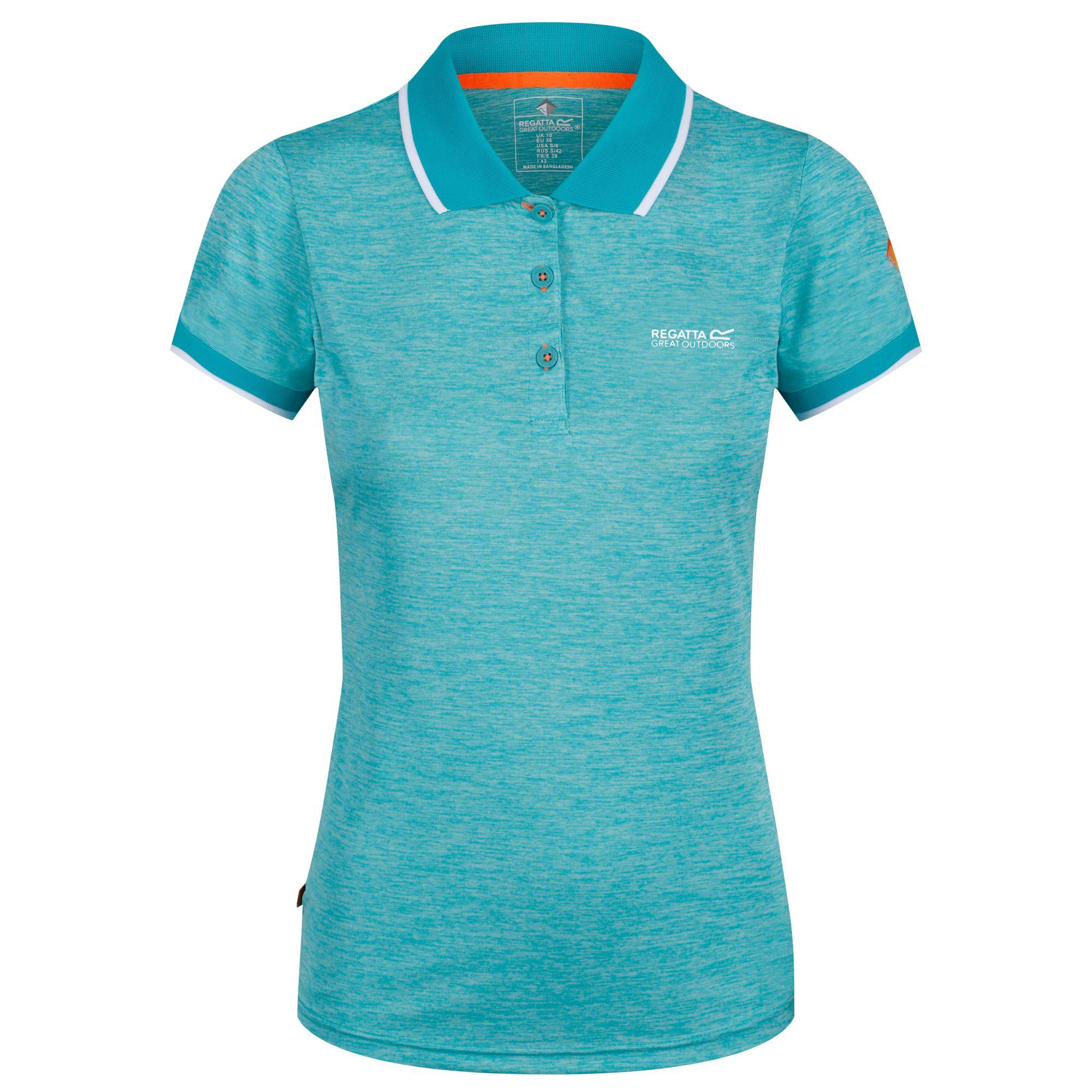 Regatta-Womens-Ladies-Remex-II-Polo-Neck-T-Shirt-RG4477 thumbnail 16