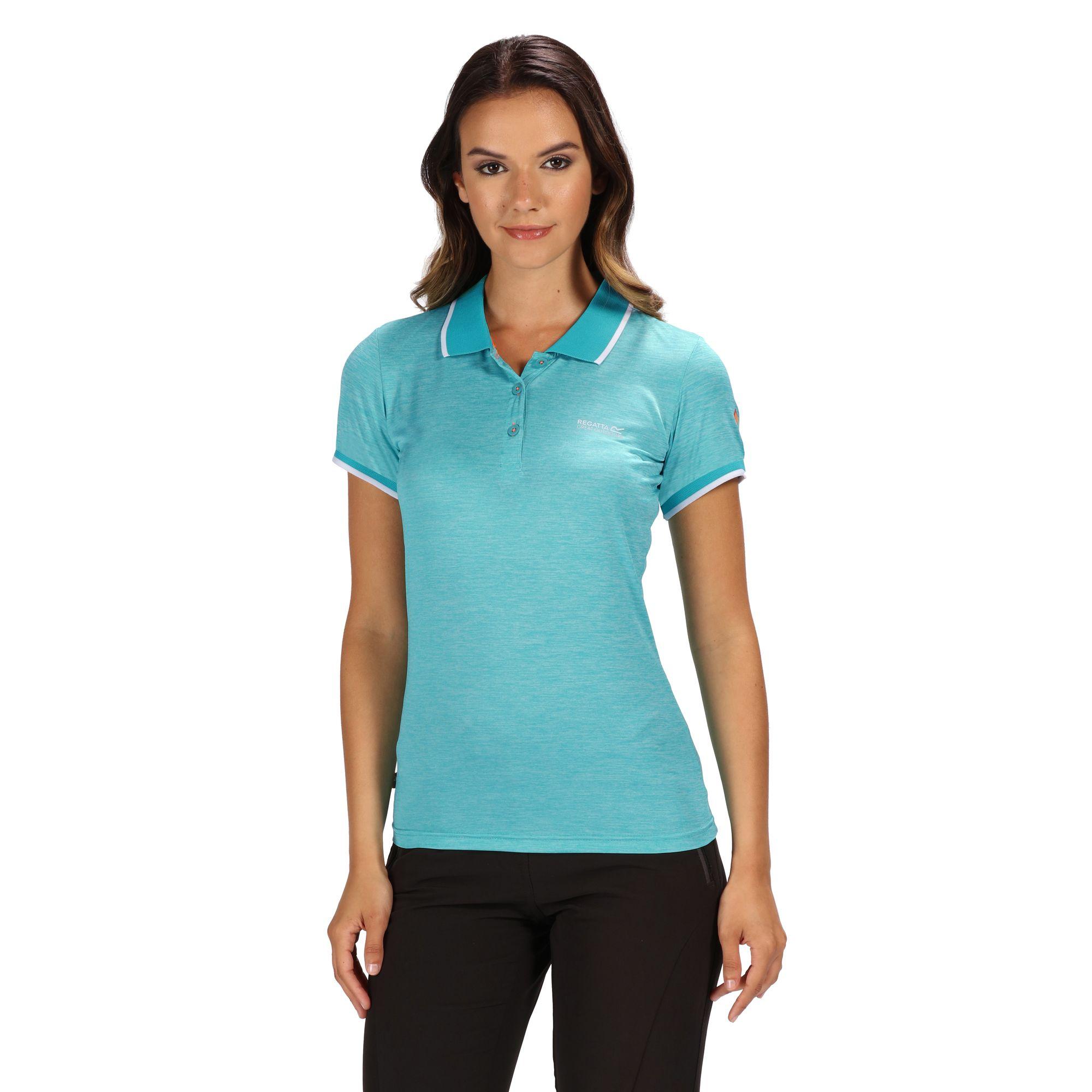 Regatta-Womens-Ladies-Remex-II-Polo-Neck-T-Shirt-RG4477 thumbnail 4