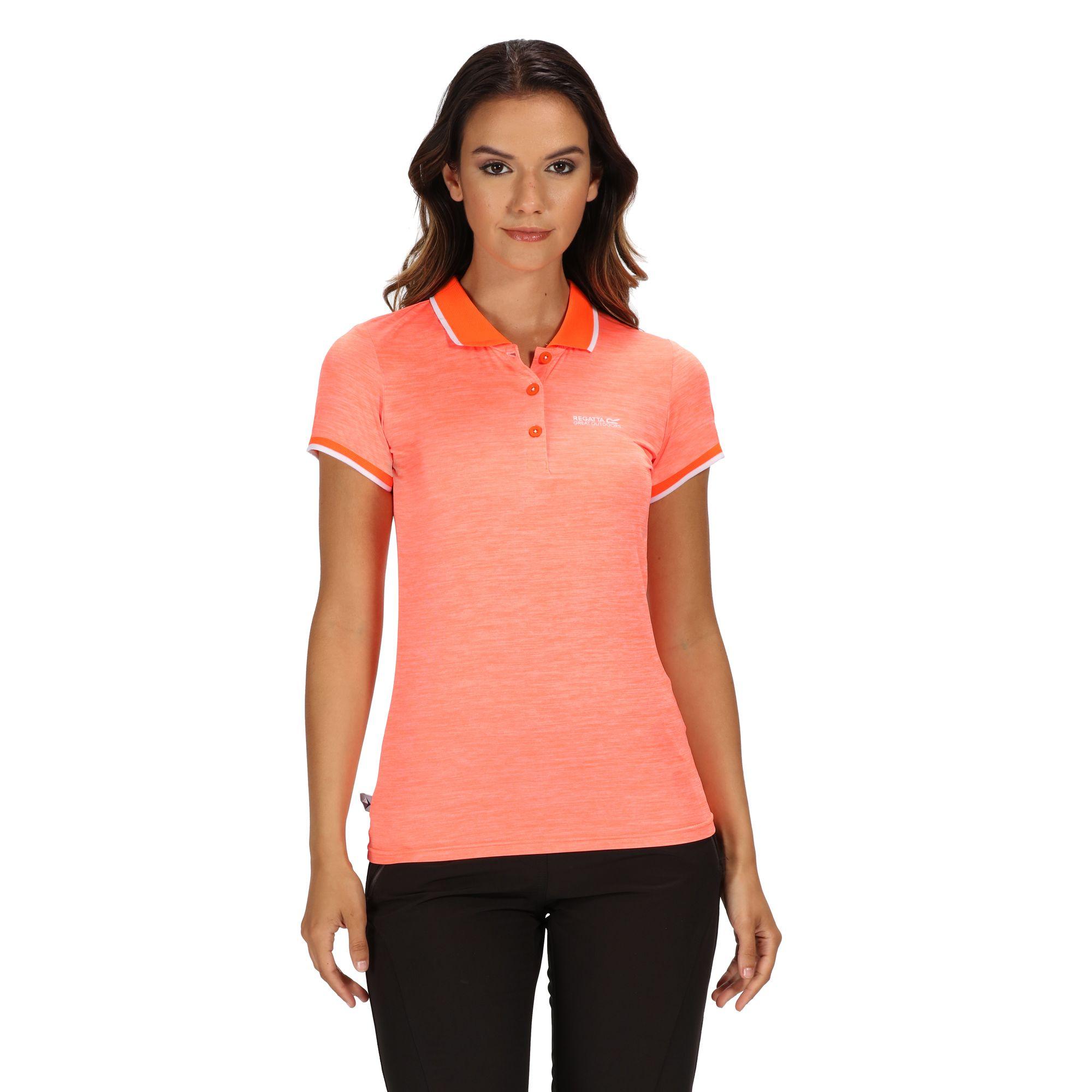 Regatta-Womens-Ladies-Remex-II-Polo-Neck-T-Shirt-RG4477 thumbnail 20