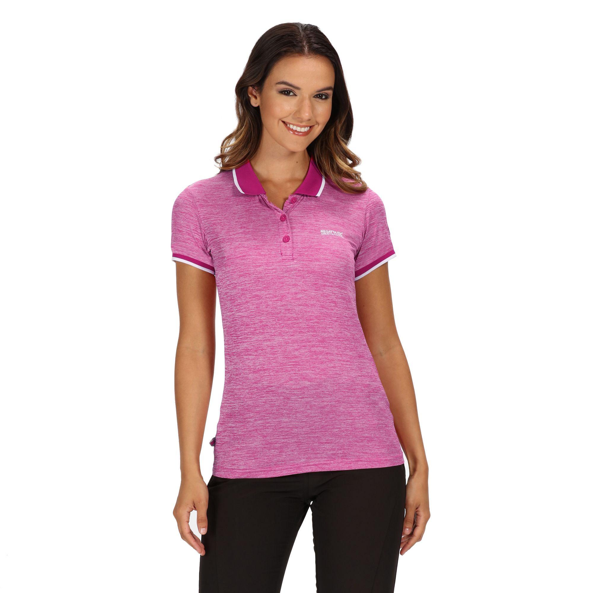 Regatta-Womens-Ladies-Remex-II-Polo-Neck-T-Shirt-RG4477 thumbnail 10