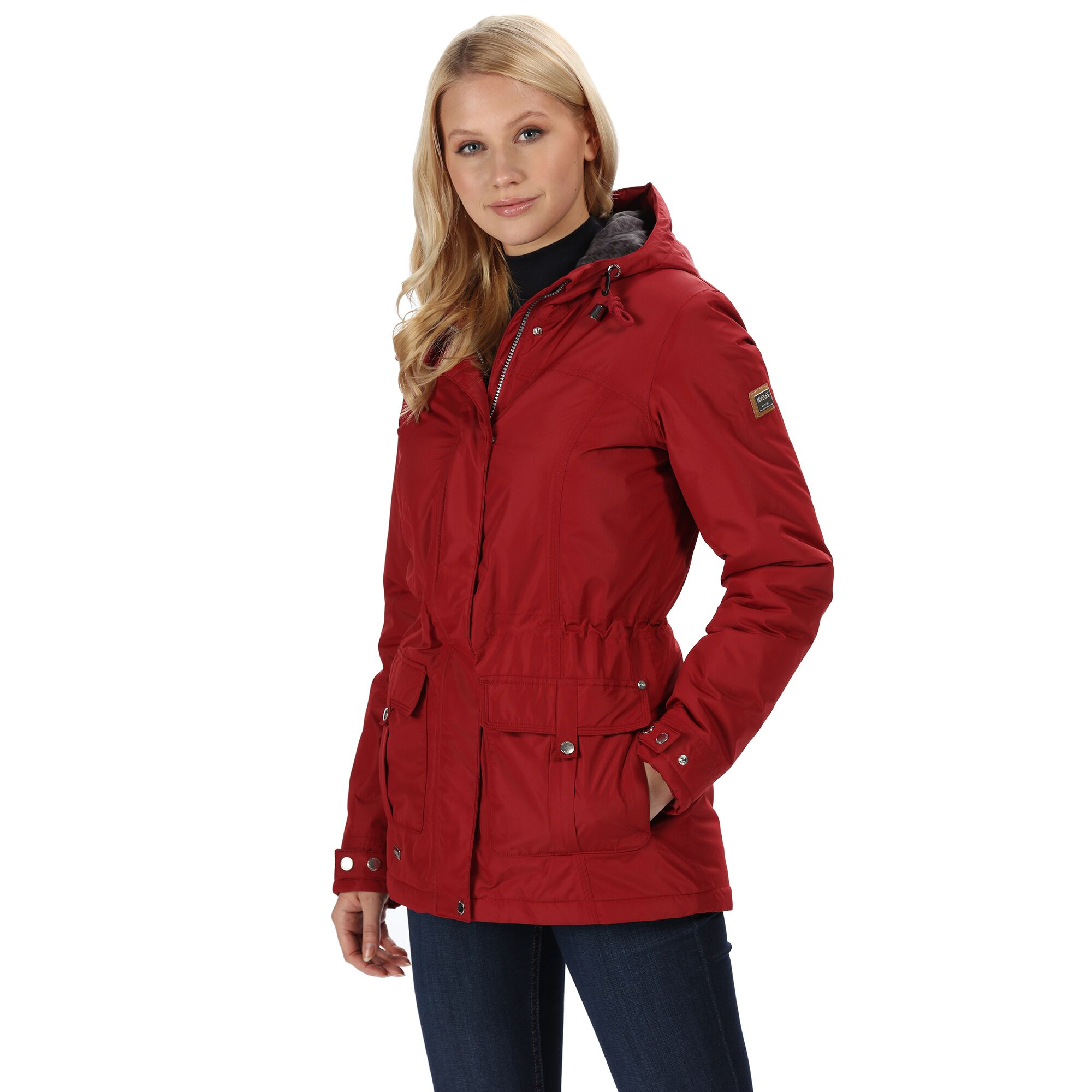 Regatta-Womens-Ladies-Braelynn-Long-Length-Waterproof-Jacket-RG4552 thumbnail 10