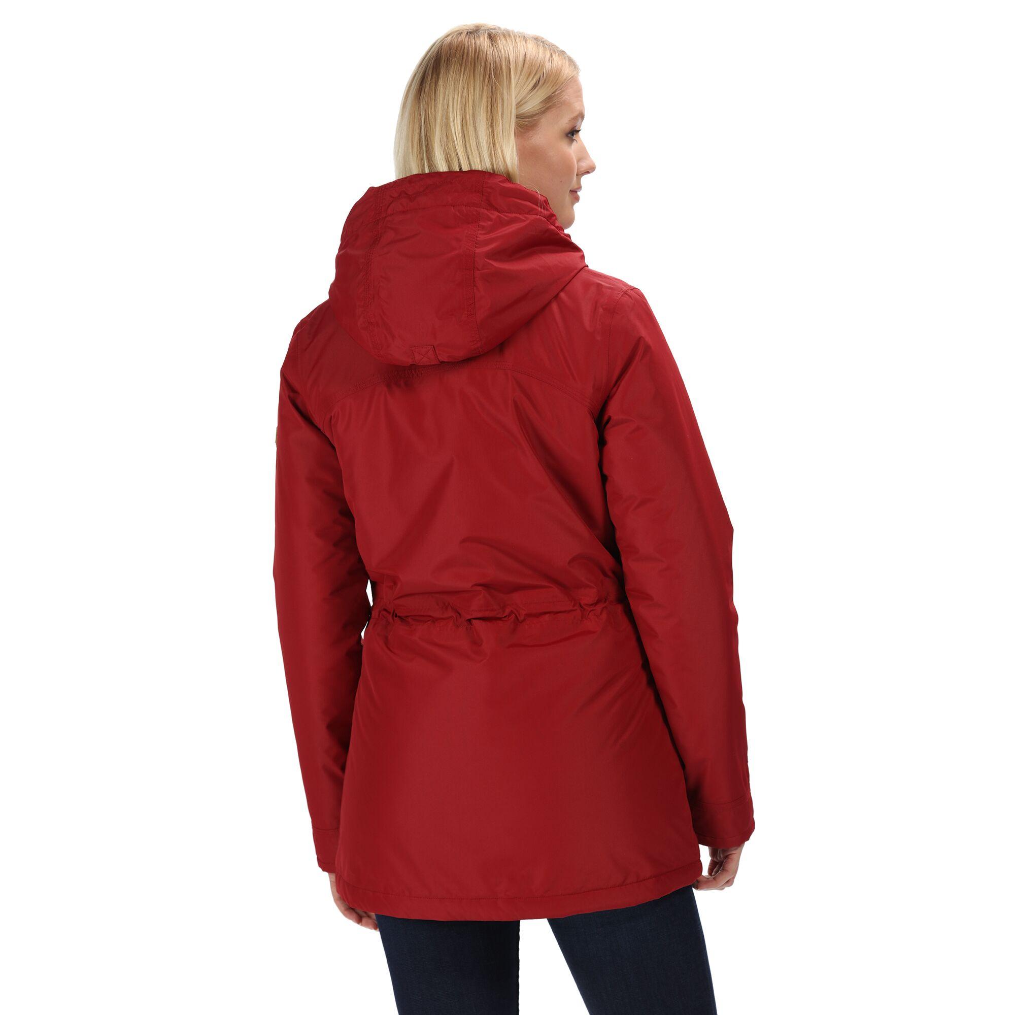 Regatta-Womens-Ladies-Braelynn-Long-Length-Waterproof-Jacket-RG4552 thumbnail 11
