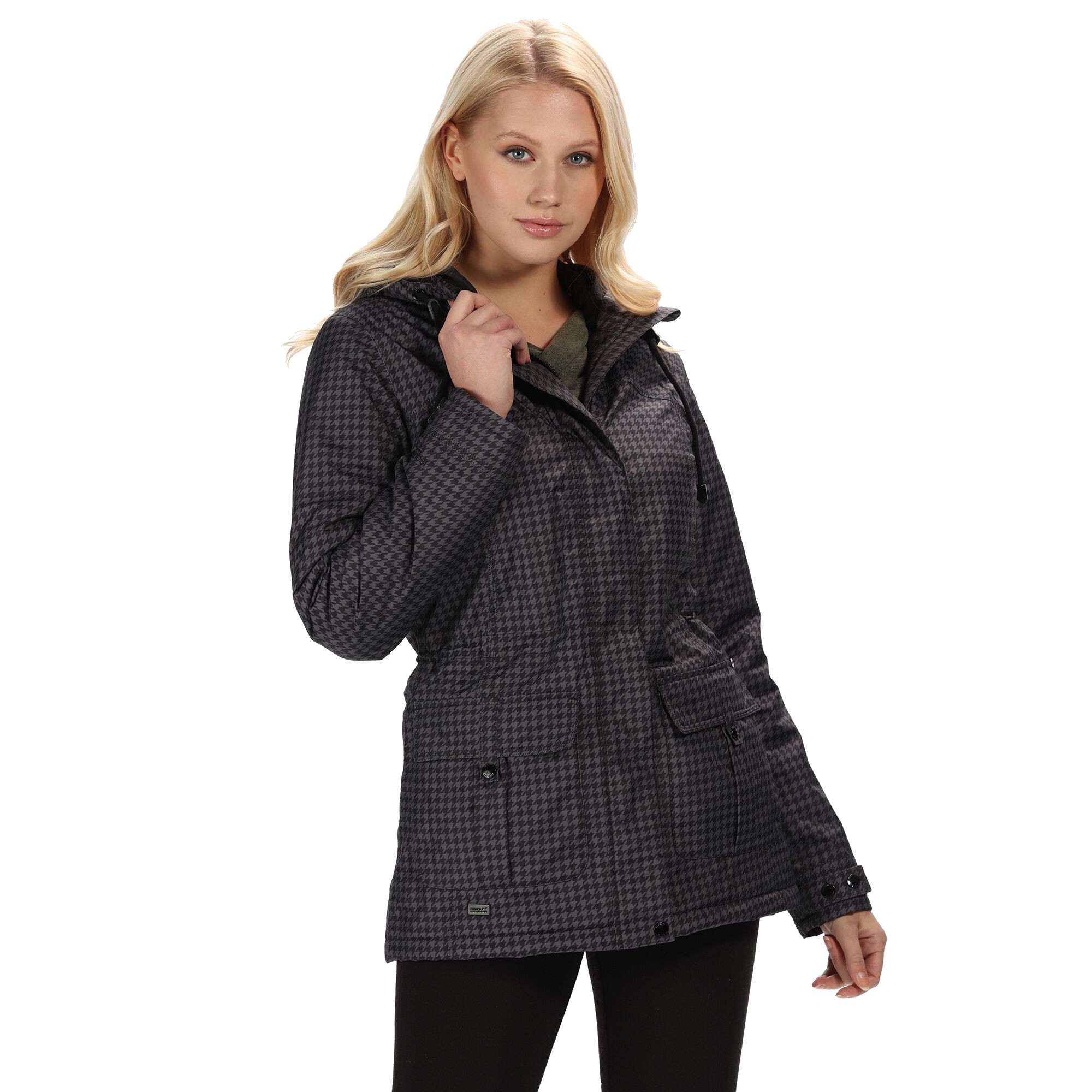 Regatta-Womens-Ladies-Braelynn-Long-Length-Waterproof-Jacket-RG4552 thumbnail 5