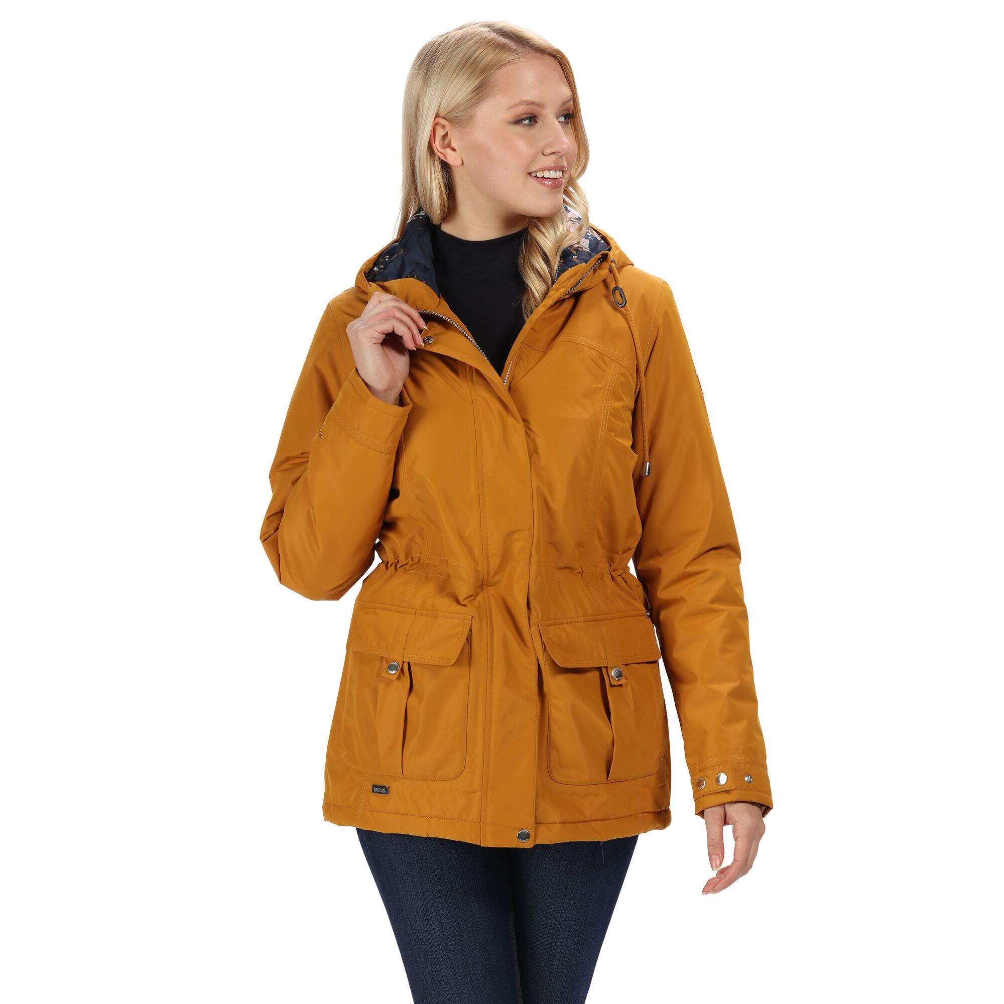 Regatta-Womens-Ladies-Braelynn-Long-Length-Waterproof-Jacket-RG4552 thumbnail 15