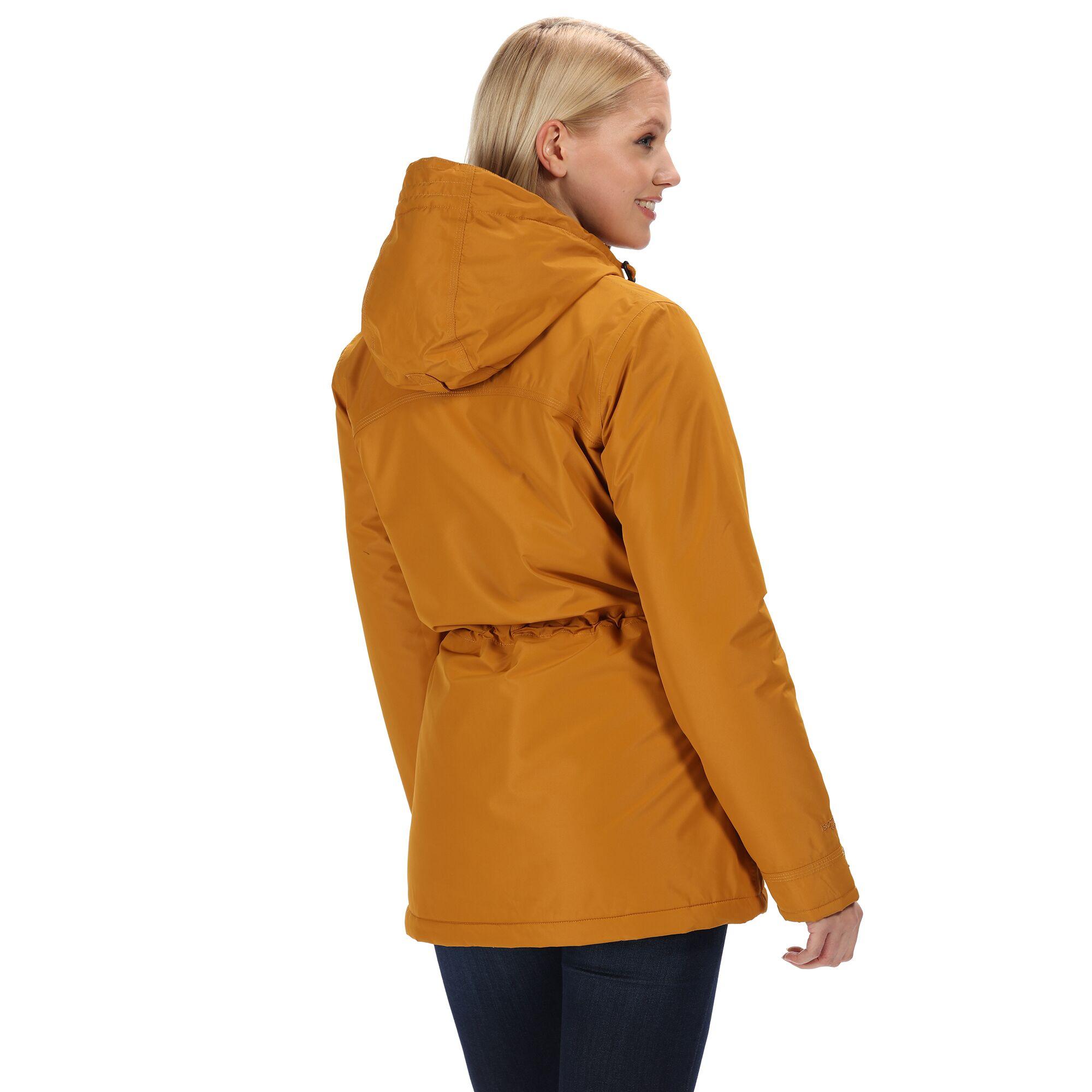 Regatta-Womens-Ladies-Braelynn-Long-Length-Waterproof-Jacket-RG4552 thumbnail 16
