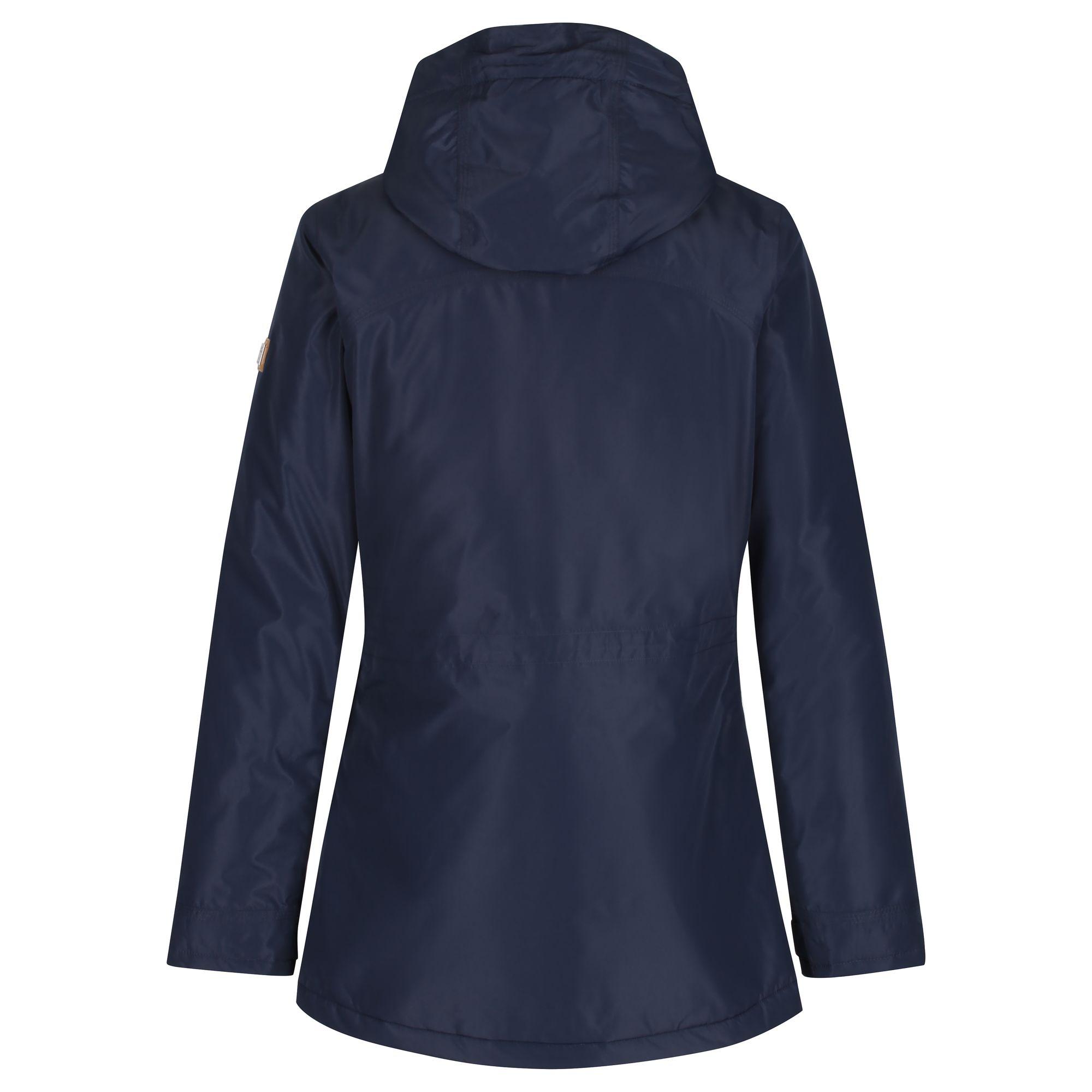 Regatta-Womens-Ladies-Braelynn-Long-Length-Waterproof-Jacket-RG4552 thumbnail 19
