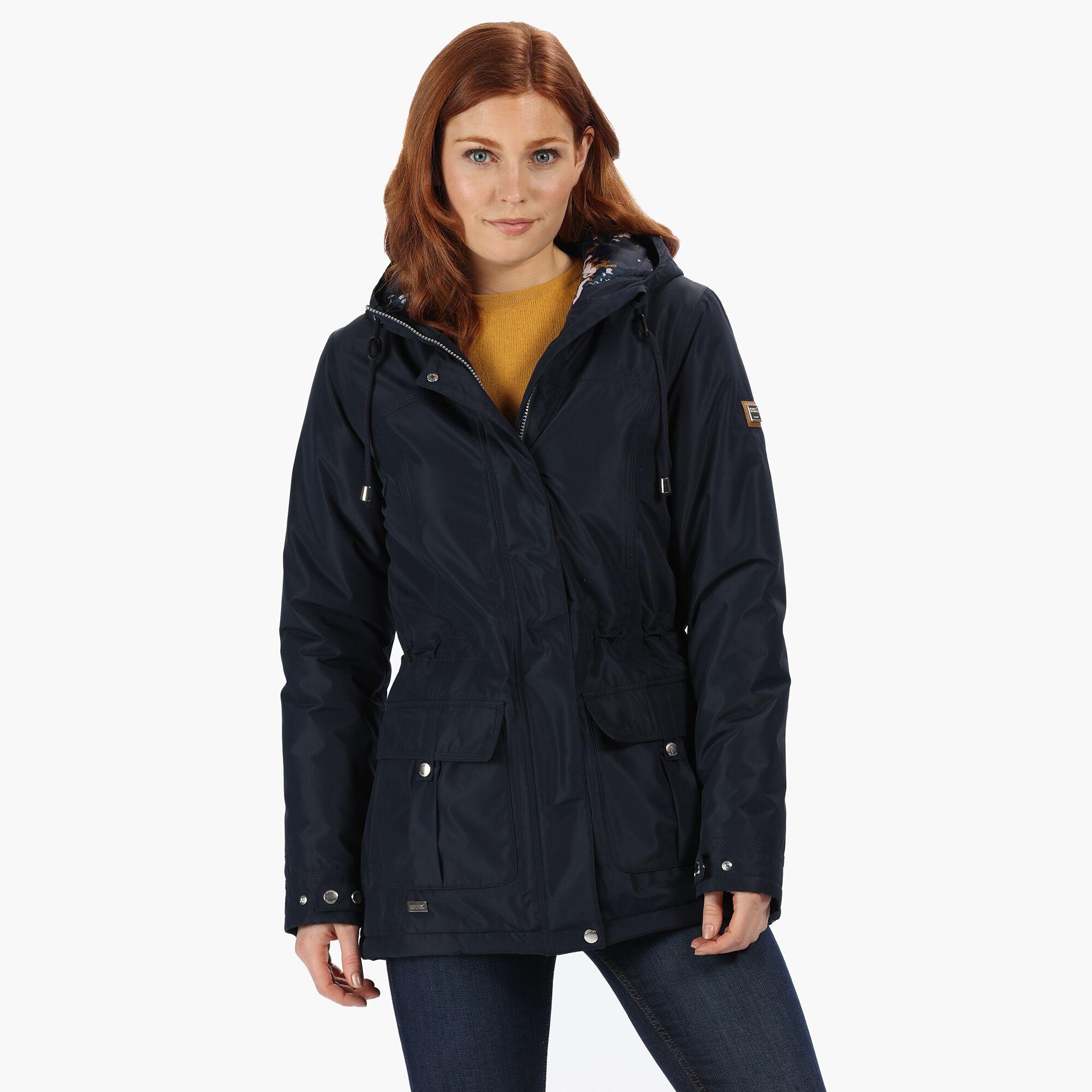 Regatta-Womens-Ladies-Braelynn-Long-Length-Waterproof-Jacket-RG4552 thumbnail 20