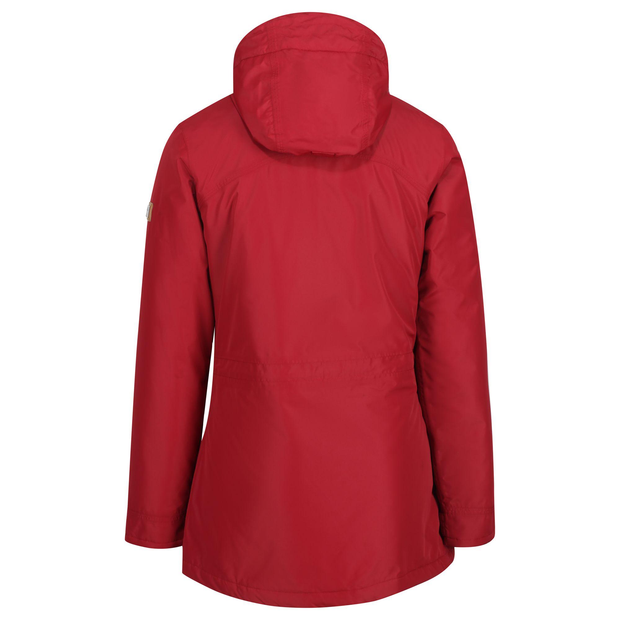 Regatta-Womens-Ladies-Braelynn-Long-Length-Waterproof-Jacket-RG4552 thumbnail 9