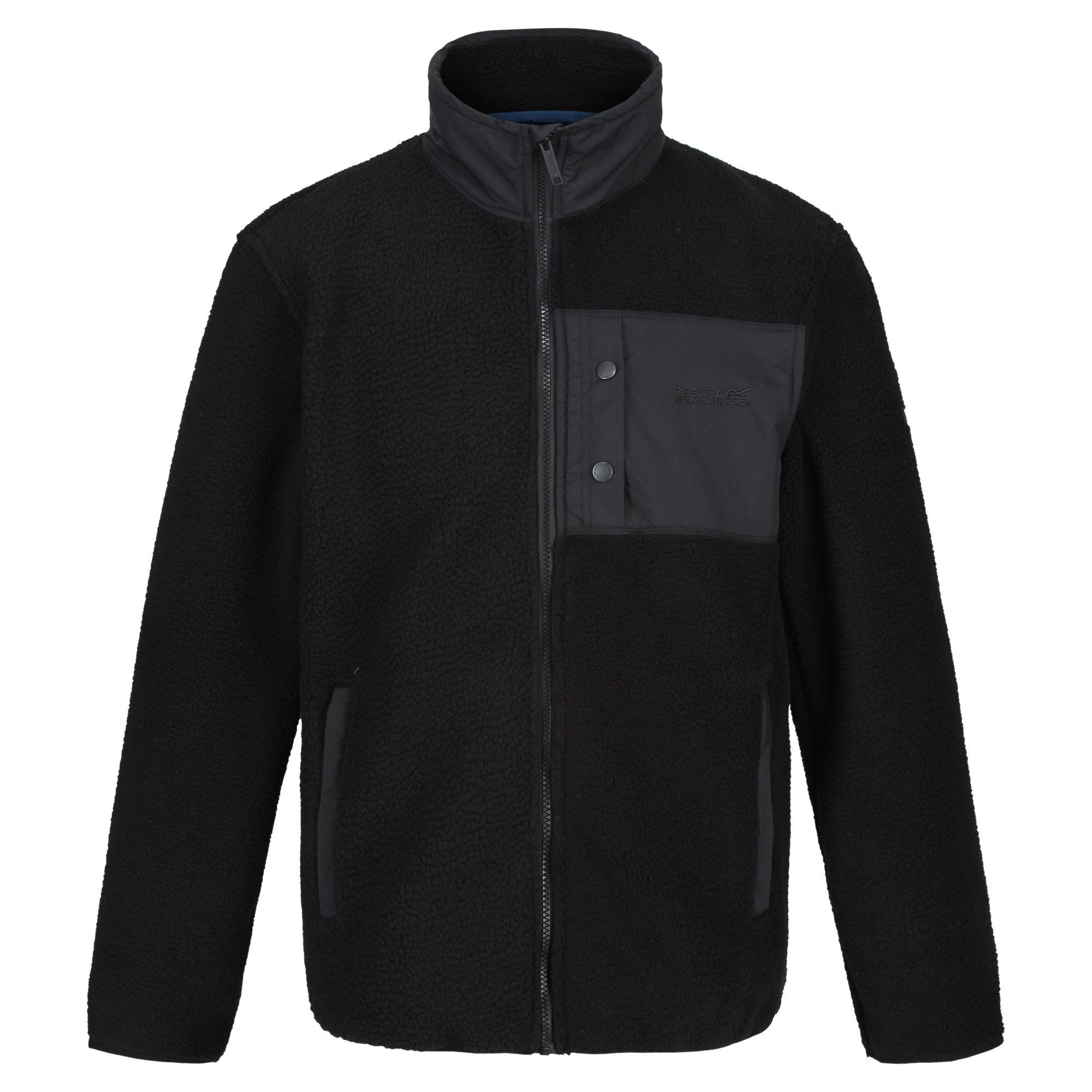 Regatta Mens Cayo Heavyweight Full Zip Fleece Jacket (M) (Black/Black)