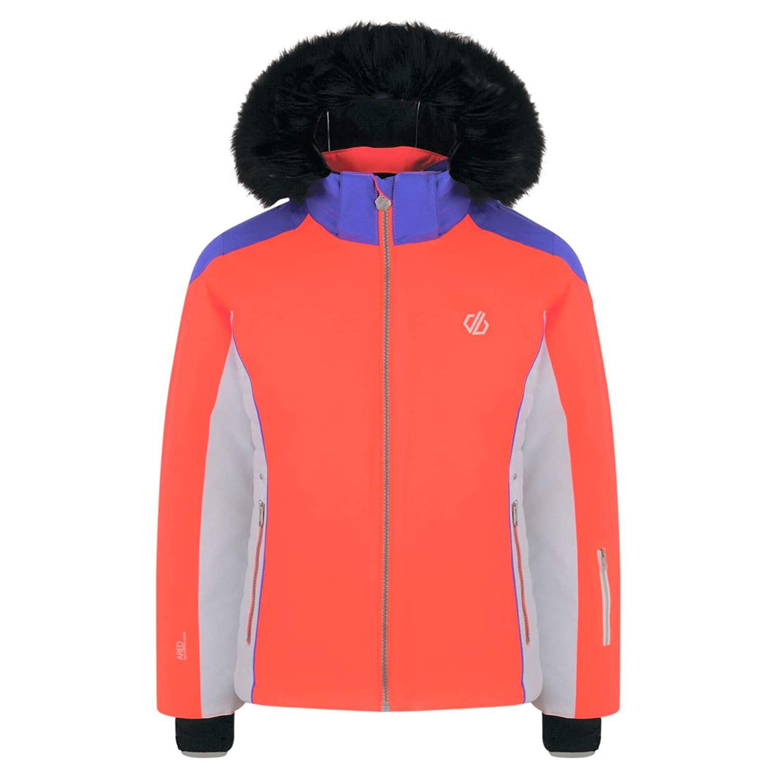 Dare 2b Girls Vast Ski Jacket (3-4 Years) (Fiery Coral/Simple Purple)