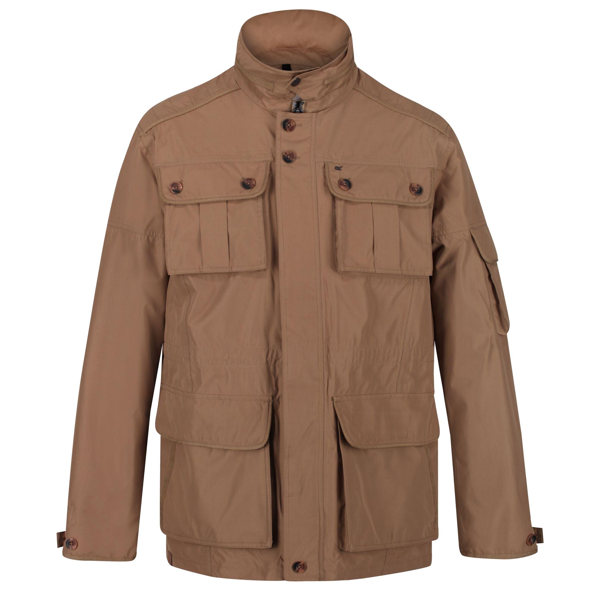 Regatta Mens Elmore Waterproof Cargo Jacket (L) (Dark Camel)