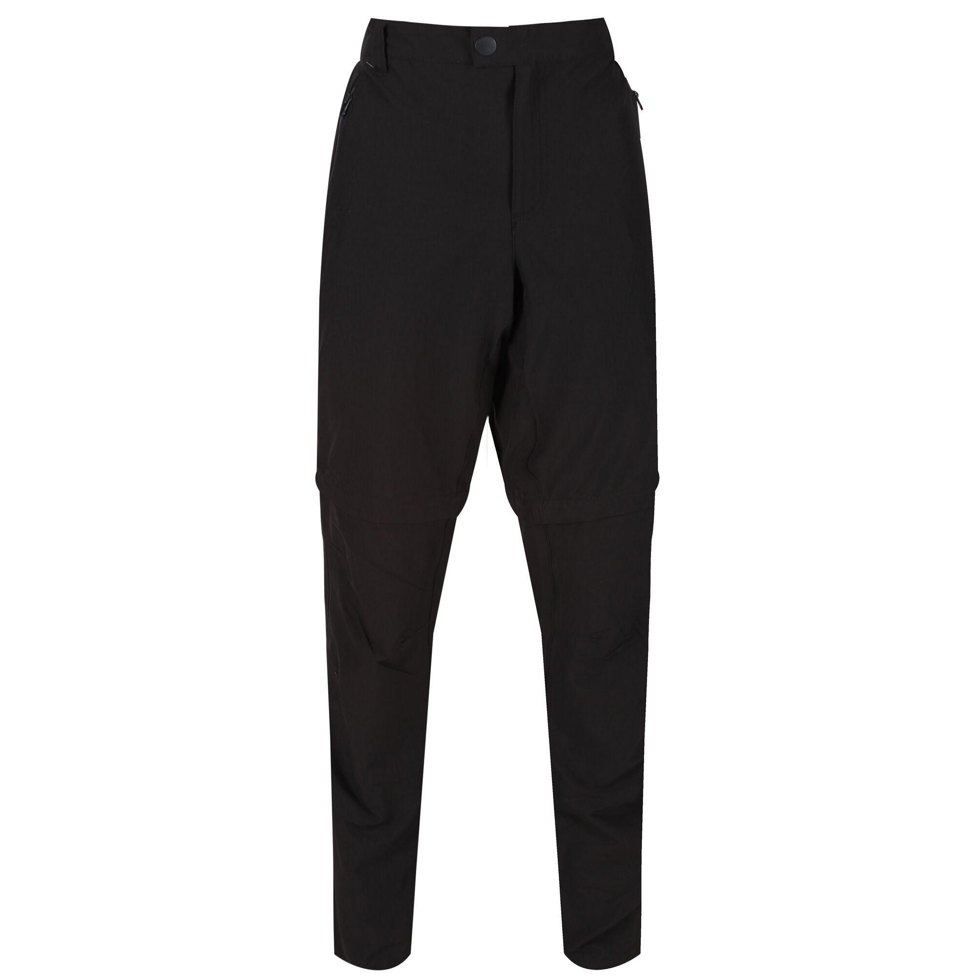 Regatta Mens Highton Zip Off Walking Trousers (42L) (Black)