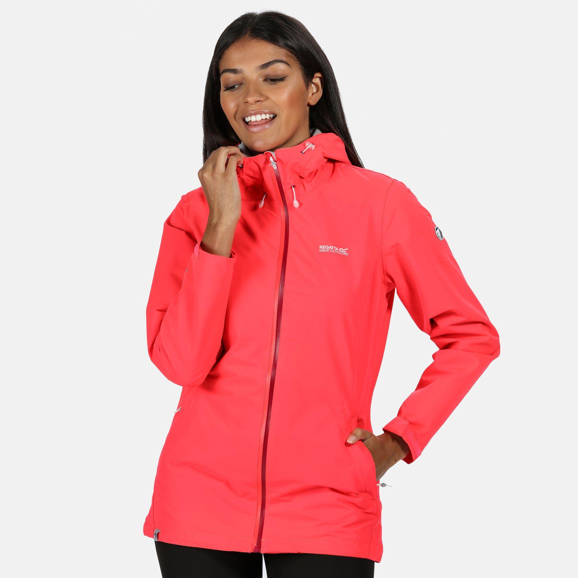 Regatta Womens/Ladies Hamara III Waterproof Jacket (22 UK) (Neon Pink)