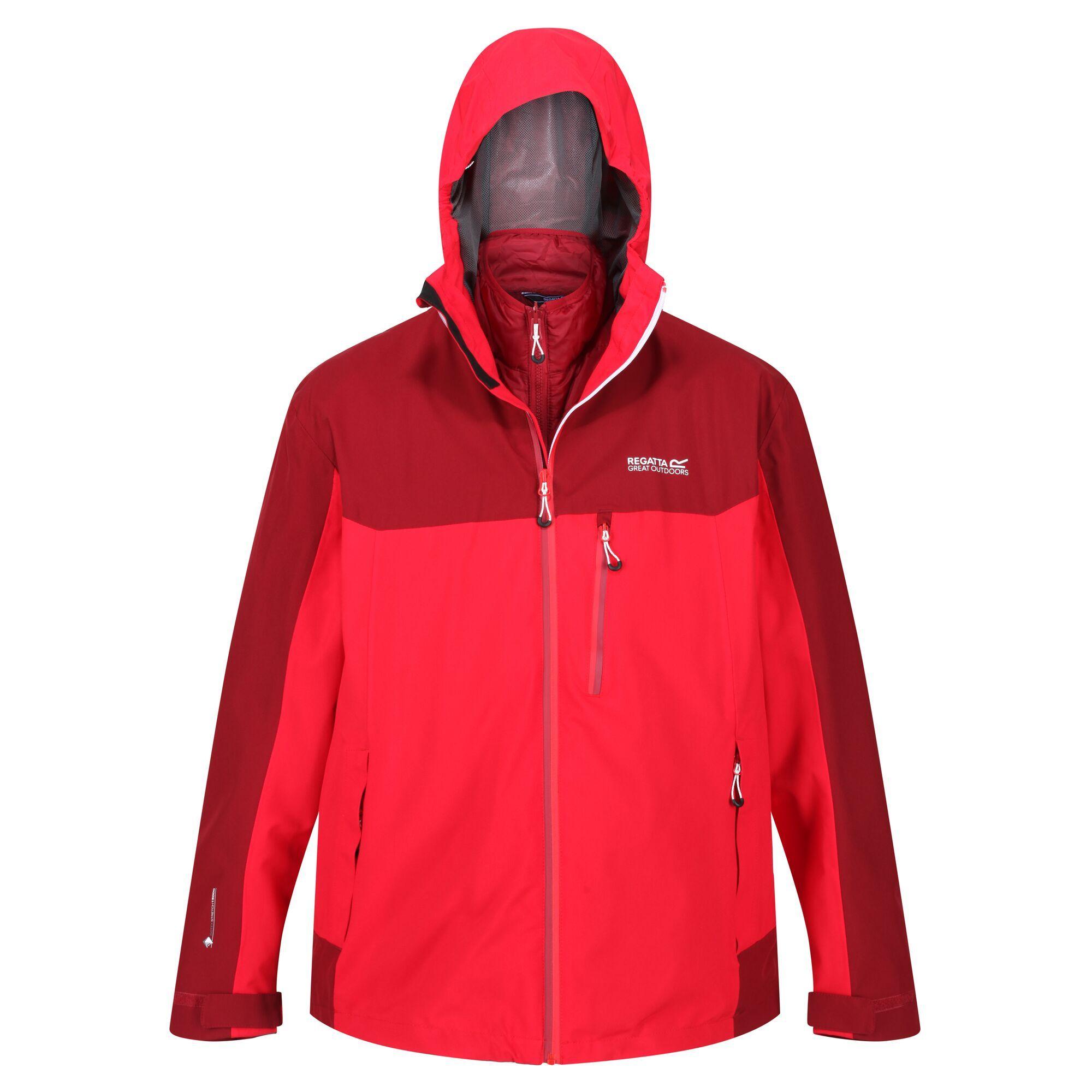 Regatta Mens Wentwood V Insulated Waterproof Jacket (XXL) (True Red/Delhi Red)