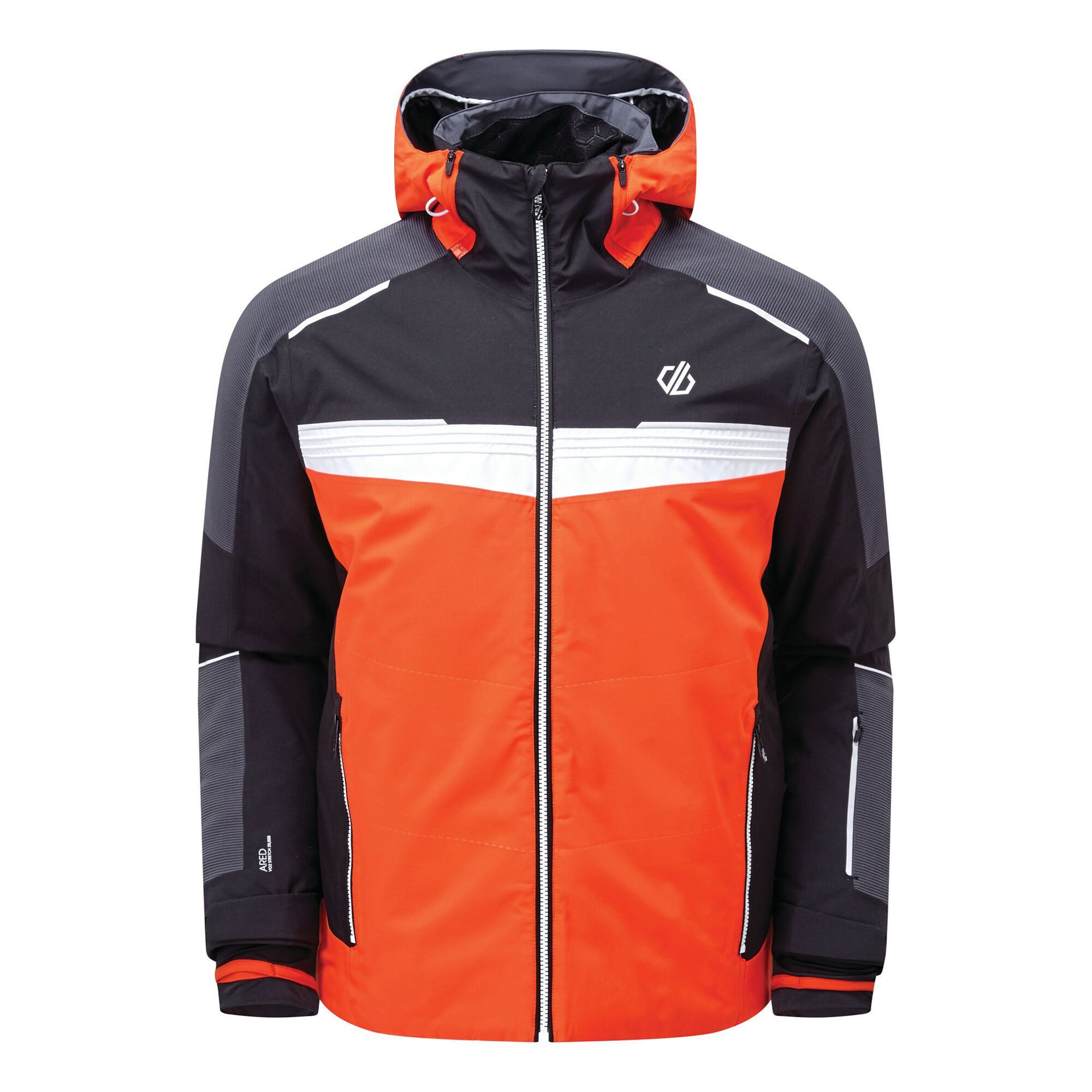 Regatta Mens Below Zero Insulated Ski Jacket (S) (Trail Blaze Red/Black)
