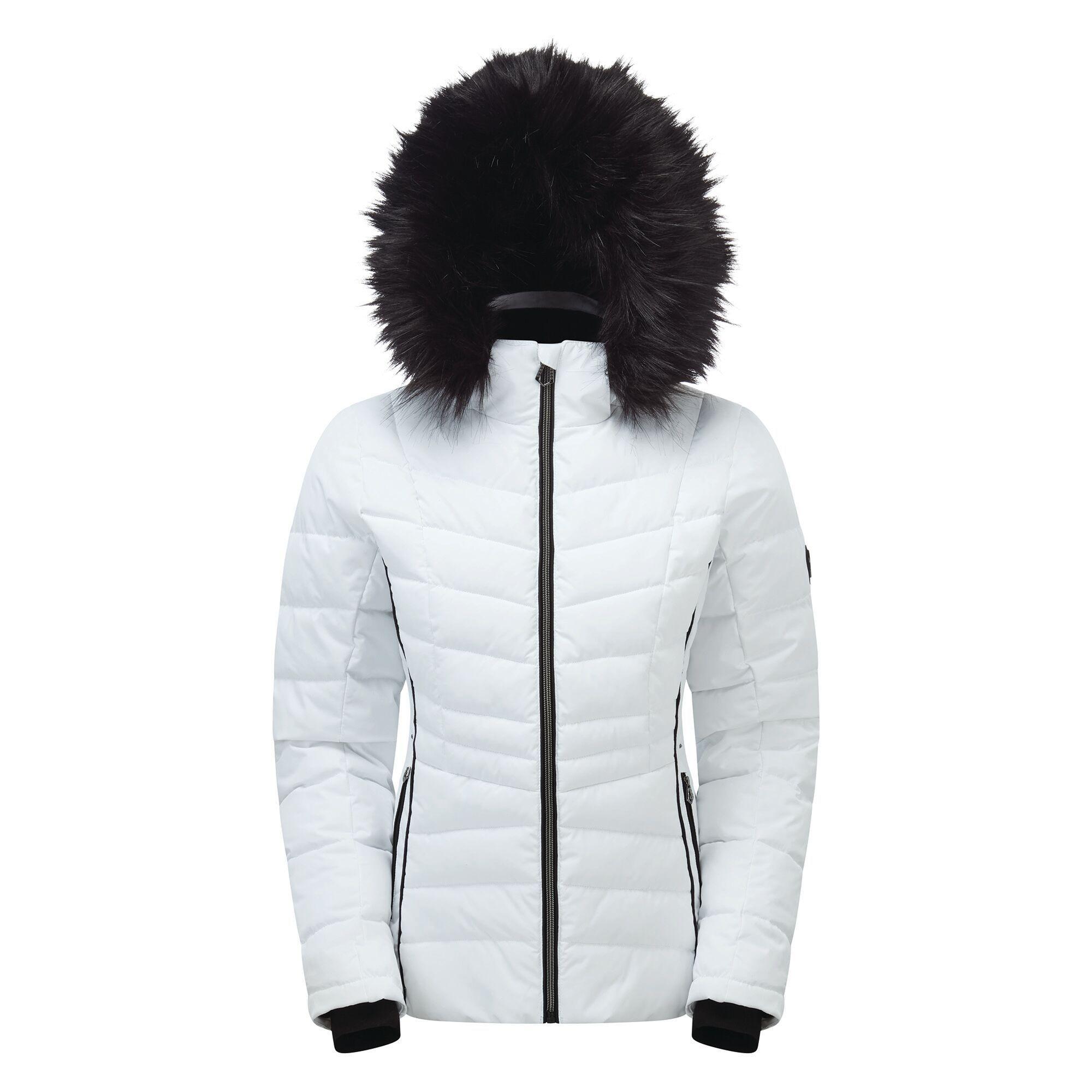 Dare 2B Womens/Ladies Glamorize II Quilted Insulated Ski Jacket (20 UK) (White)