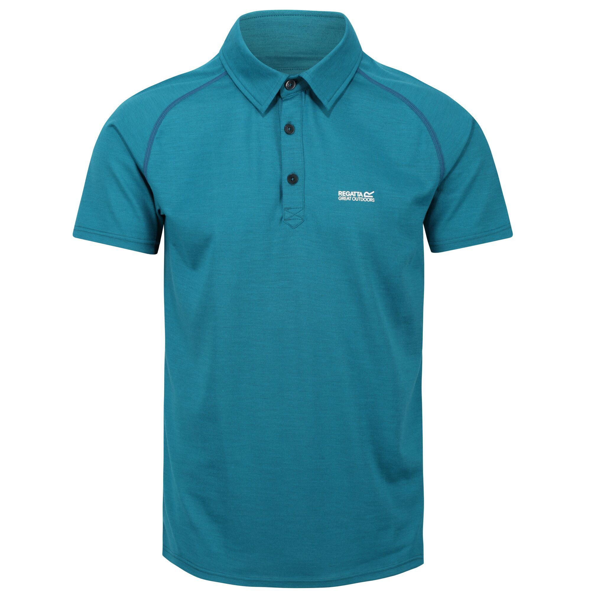 Regatta Mens Kalter Short-Sleeved Polo Shirt (M) (Gulfstream)