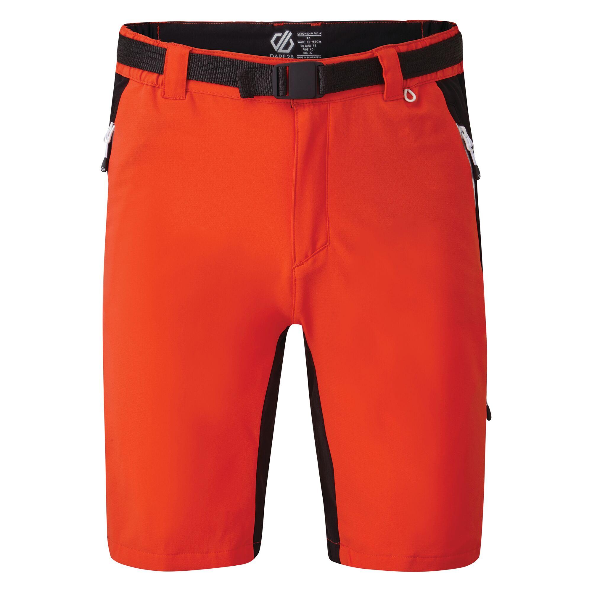 Dare 2B Mens Disport II Walking Shorts (44R) (Trail Blaze Red/Black)