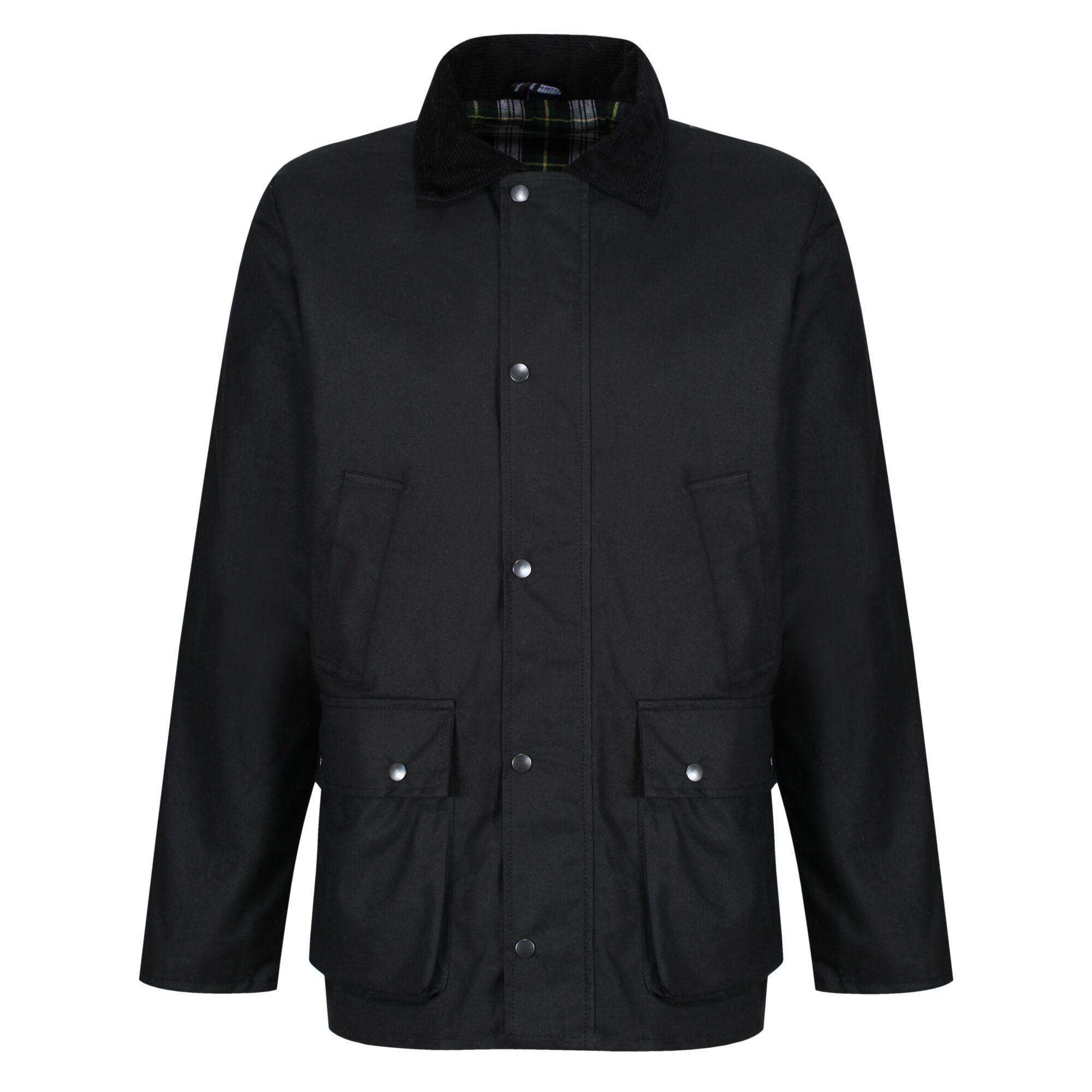 Regatta Mens Country Wax Jacket (S) (Black)
