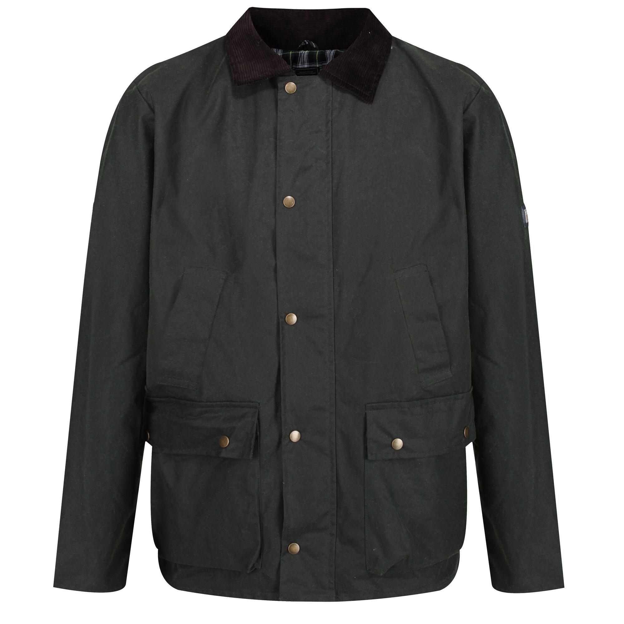 Regatta Mens Country Wax Jacket (3XL) (Dark Khaki)