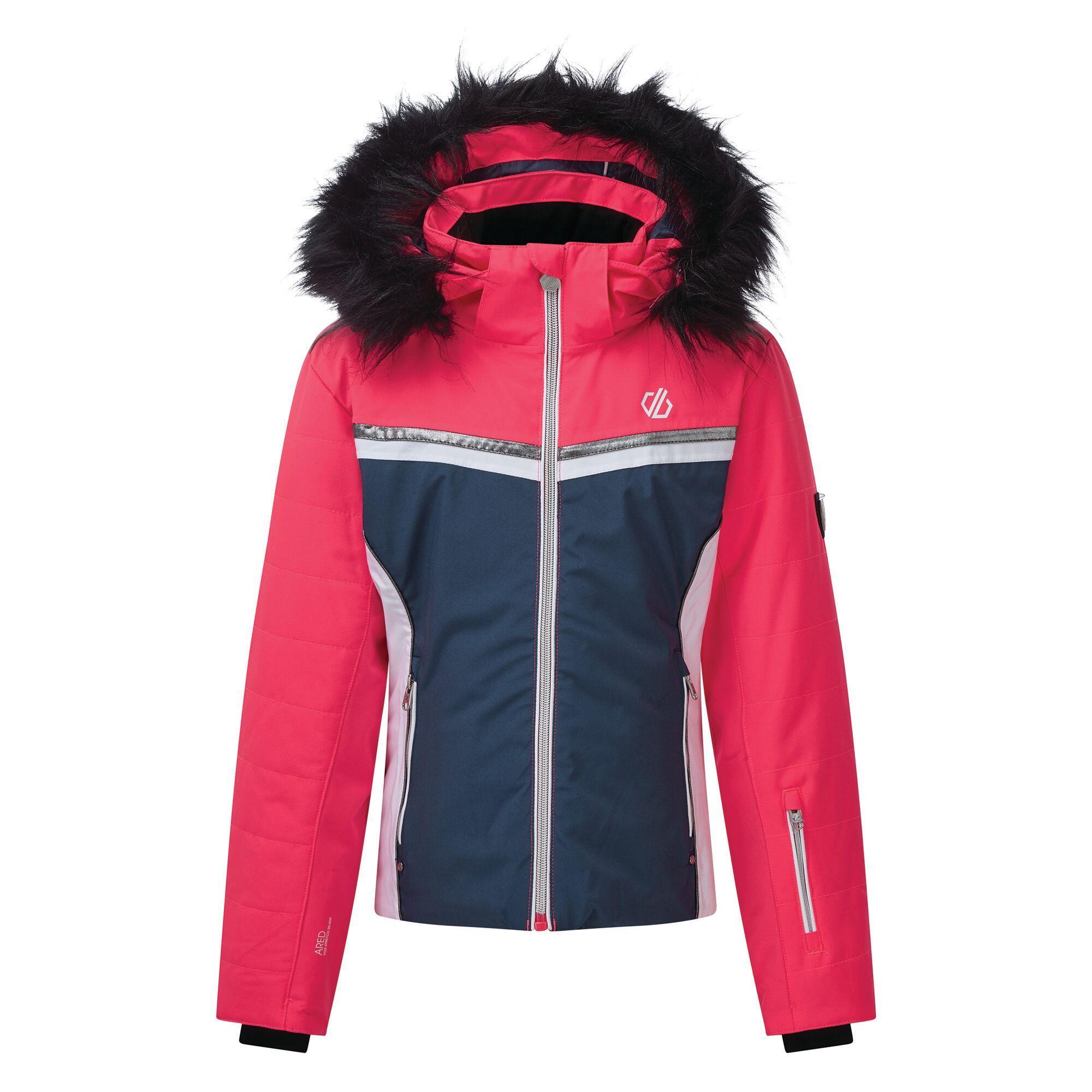 Dare 2B Girls Estimate Ski Jacket (9-10 Years) (Dark Denim/Neon Pink)