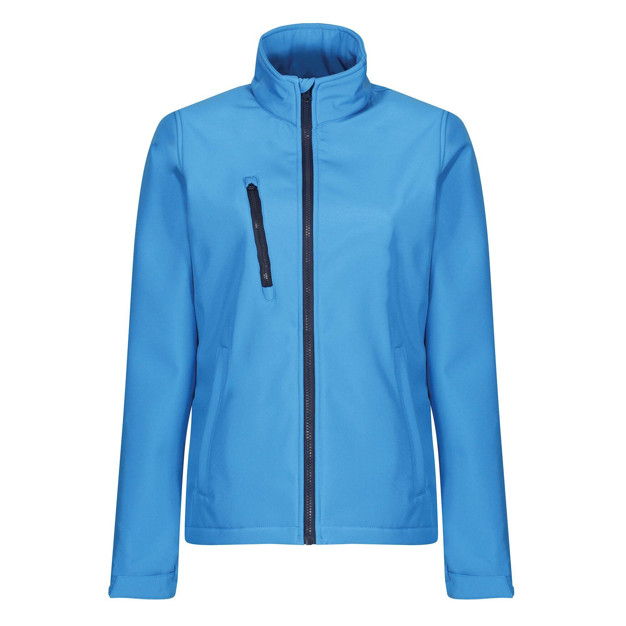 Regatta Womens/Ladies Ablaze 3 Layer Membrane Soft Shell Jacket (20 UK) (French Blue/Navy)