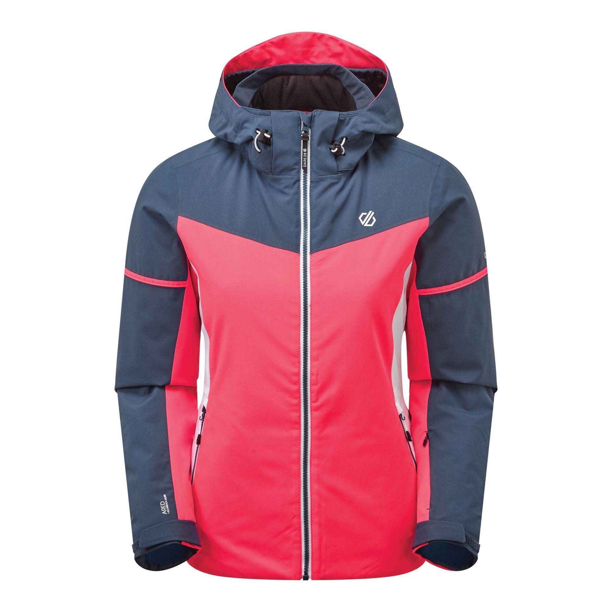 Dare 2B Womens/Ladies Enclave Insulated Ski Jacket (12 UK) (Neon Pink/Dark Denim)