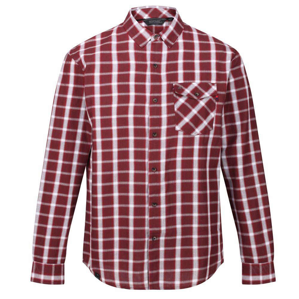 Regatta Mens Classic Checked Long-Sleeved Casual Shirt (L) (Port Royale)