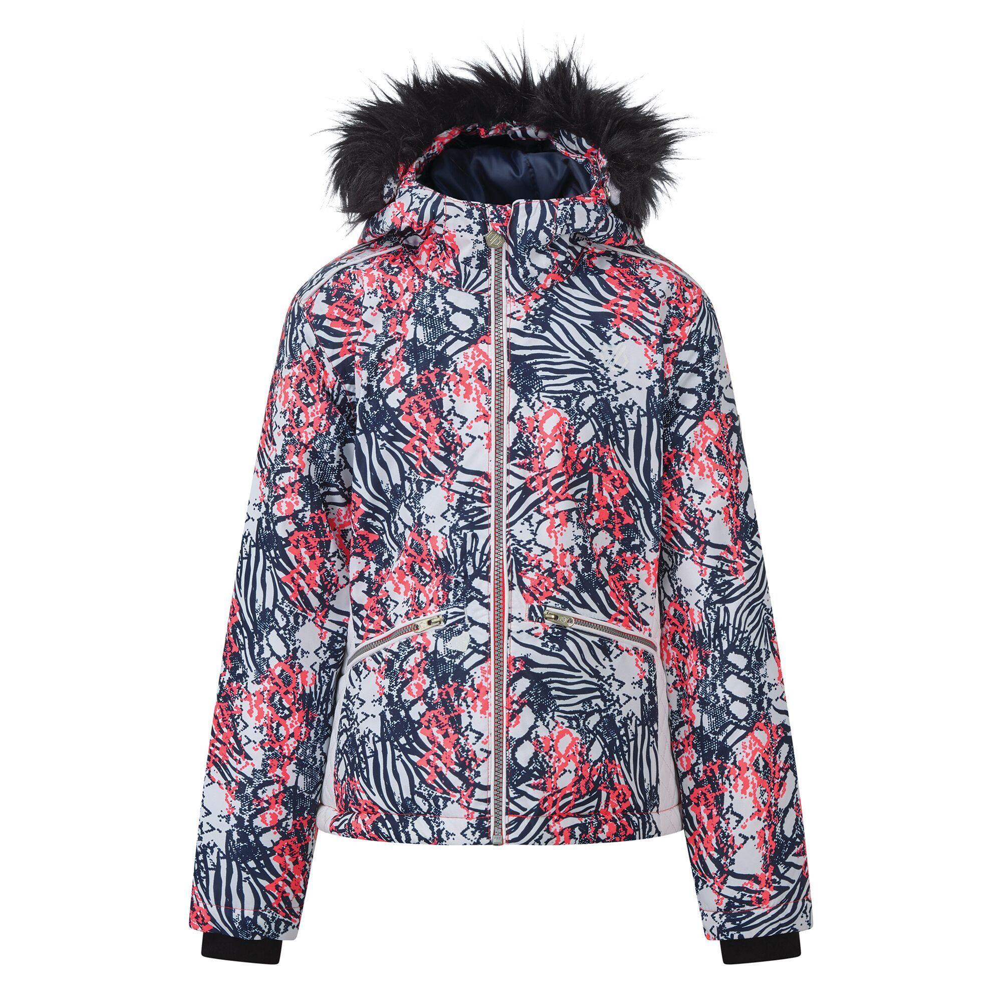 Dare 2B Girls Far Out Waterproof Ski Jacket (15-16 Years) (Neon Pink)