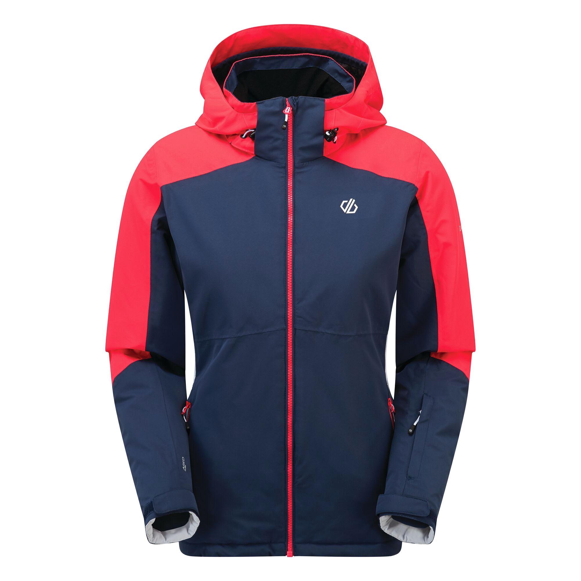 Dare 2B Womens/Ladies Radiate Ski Jacket (12 UK) (Dark Denim/Neon Pink)