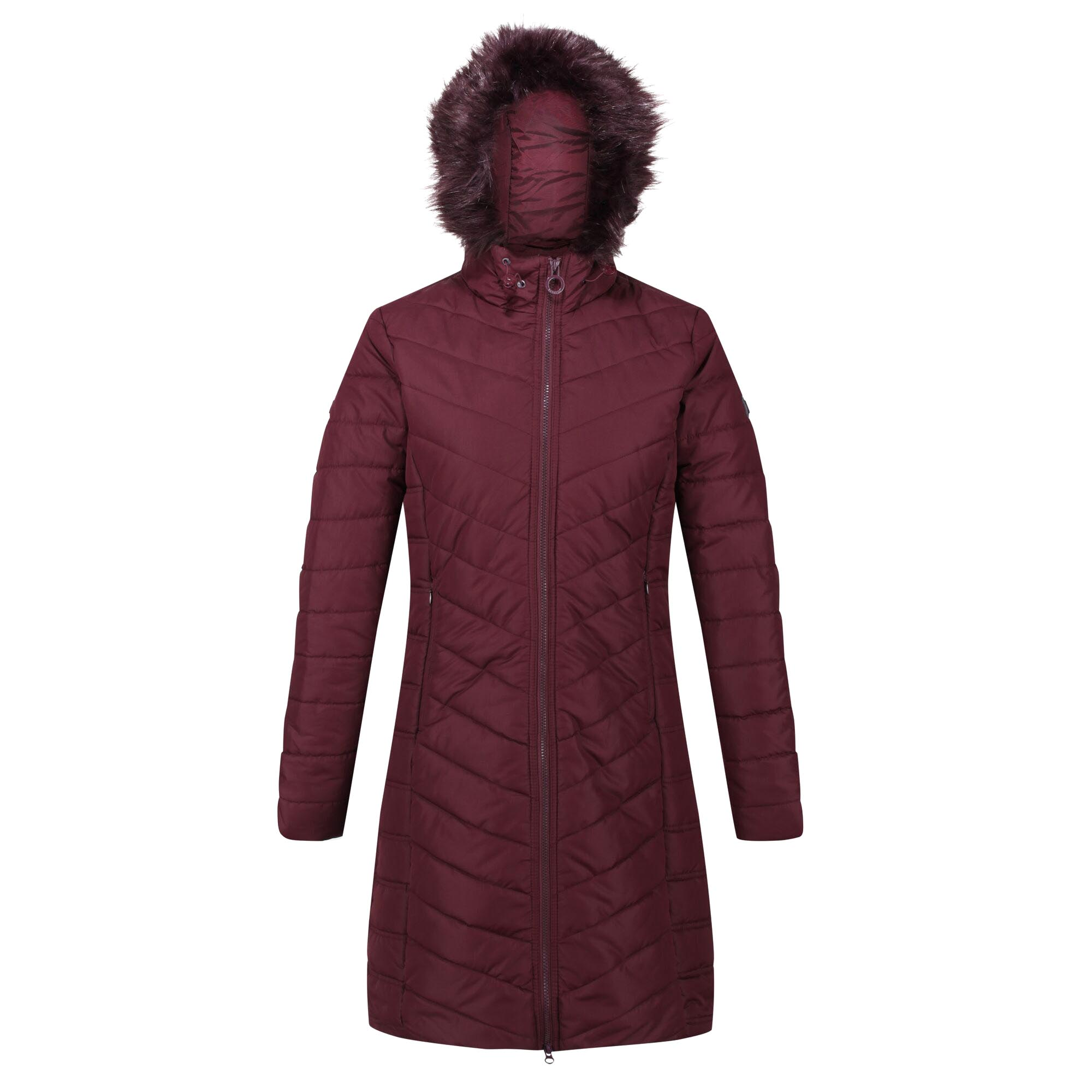 Regatta Womens/Ladies Fritha Parka (8 UK) (Dark Burgundy)