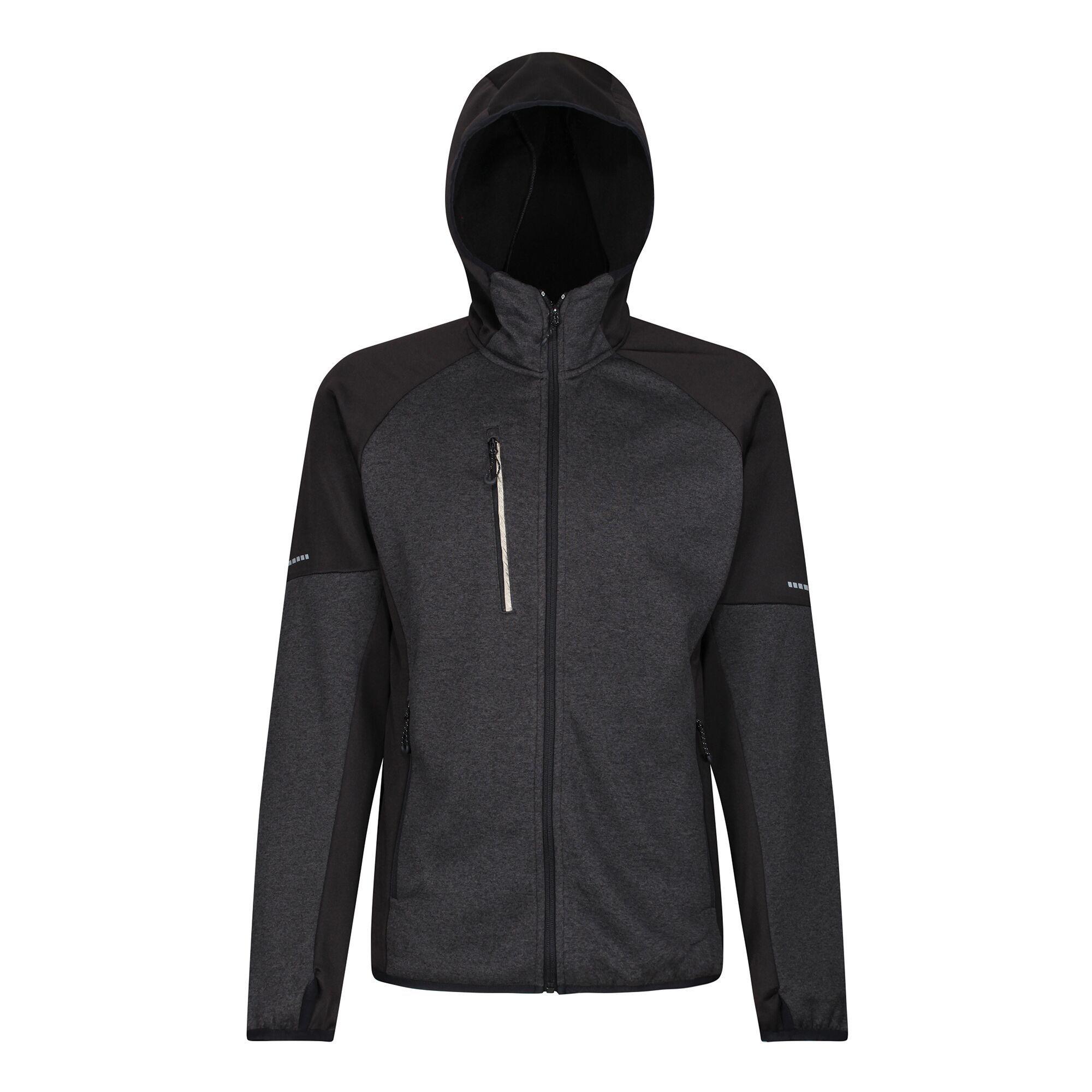 Regatta Mens X-Pro Coldspring II Fleece Jacket (3XL) (Black/Grey Marl)