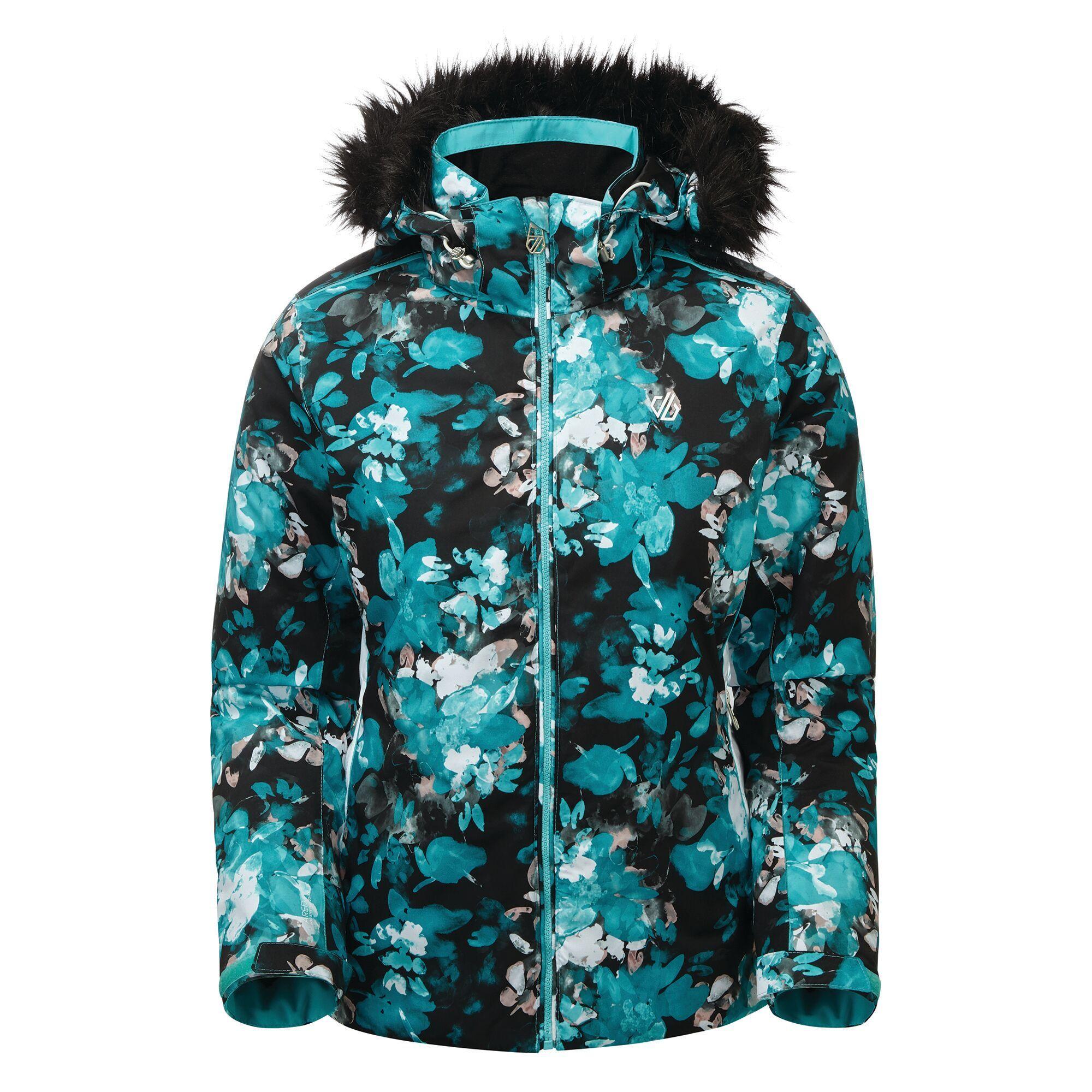 Dare 2B Womens/Ladies Province Ski Jacket (8 UK) (Azure Blue/White)