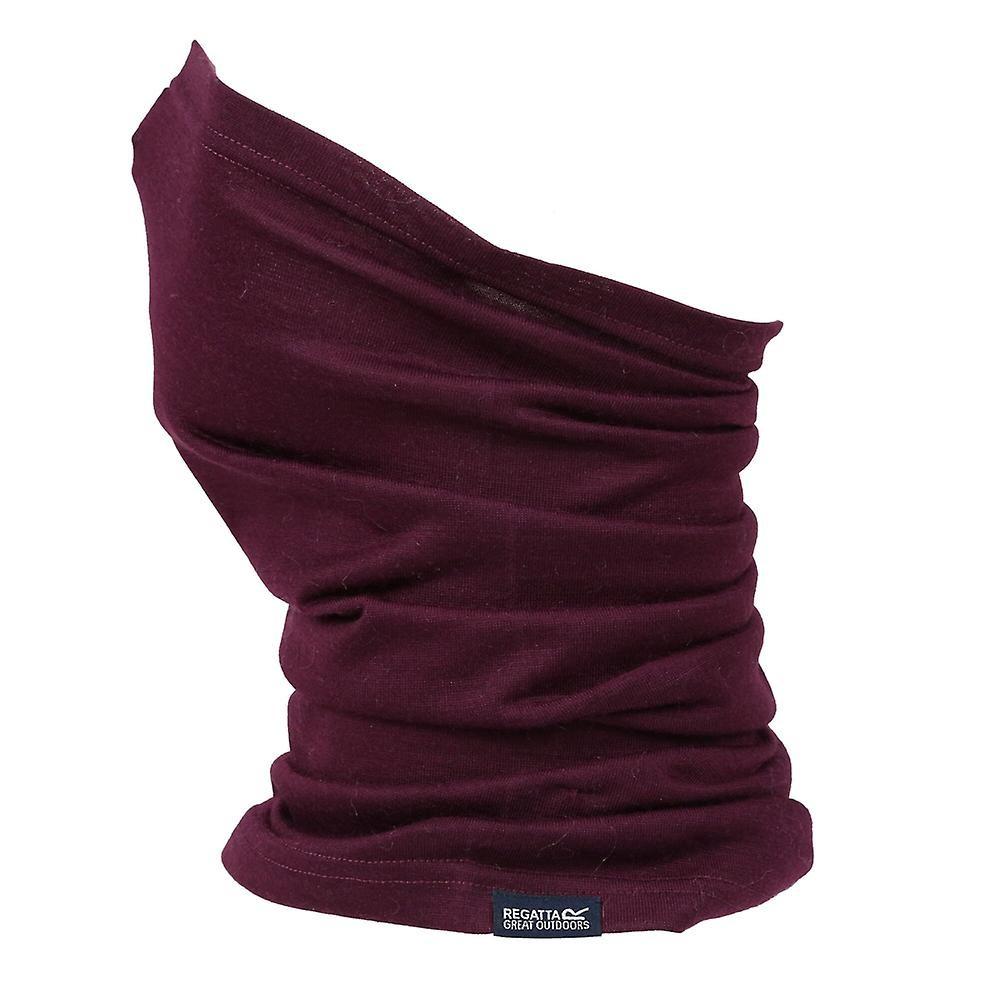 Regatta Unisex Adult Merino Multitube Neck Warmer (One Size) (Dark Burgundy)