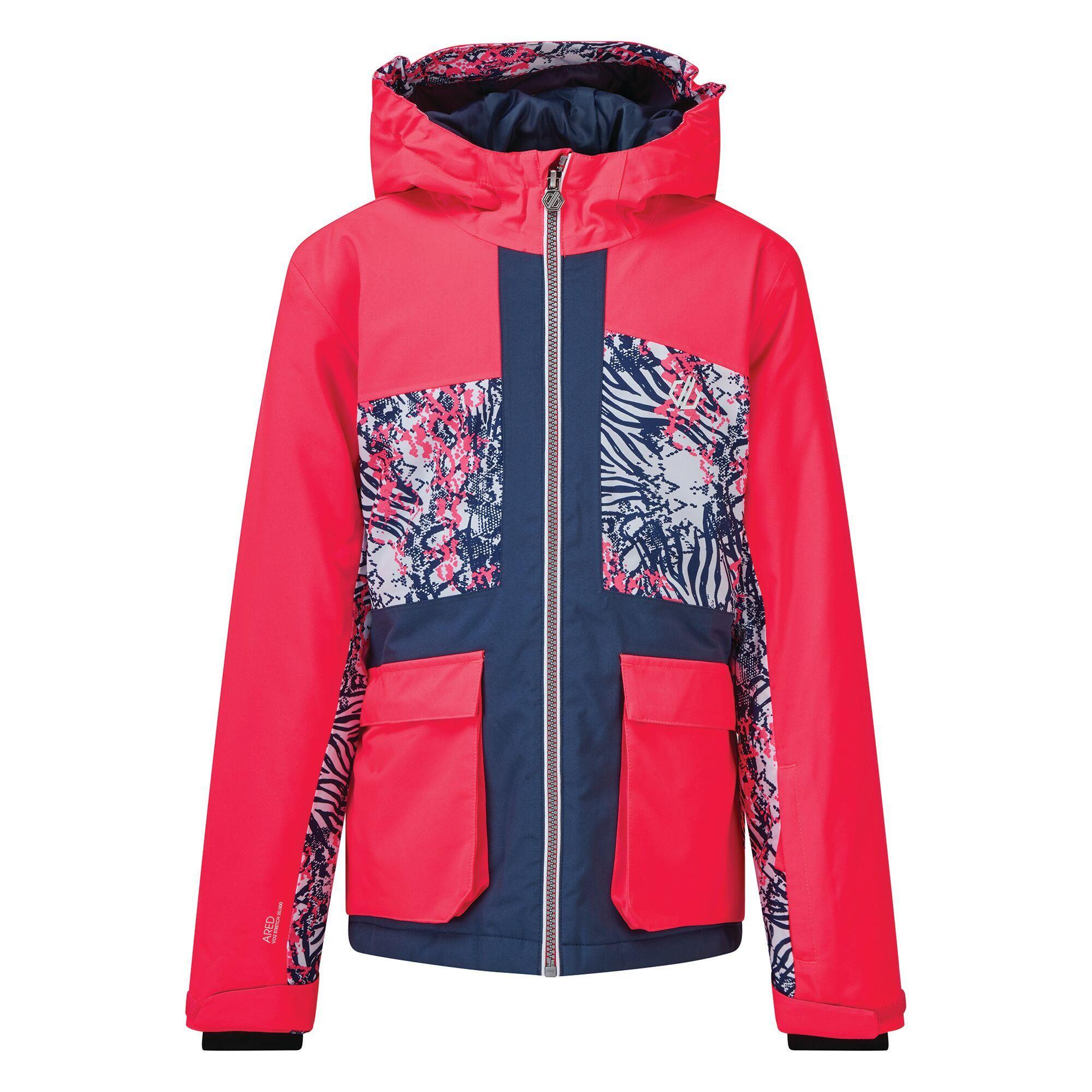 Dare 2B Childrens/Kids Esteem Insulated Ski Jacket (11-12 Years) (Neon Pink/Dark Denim)