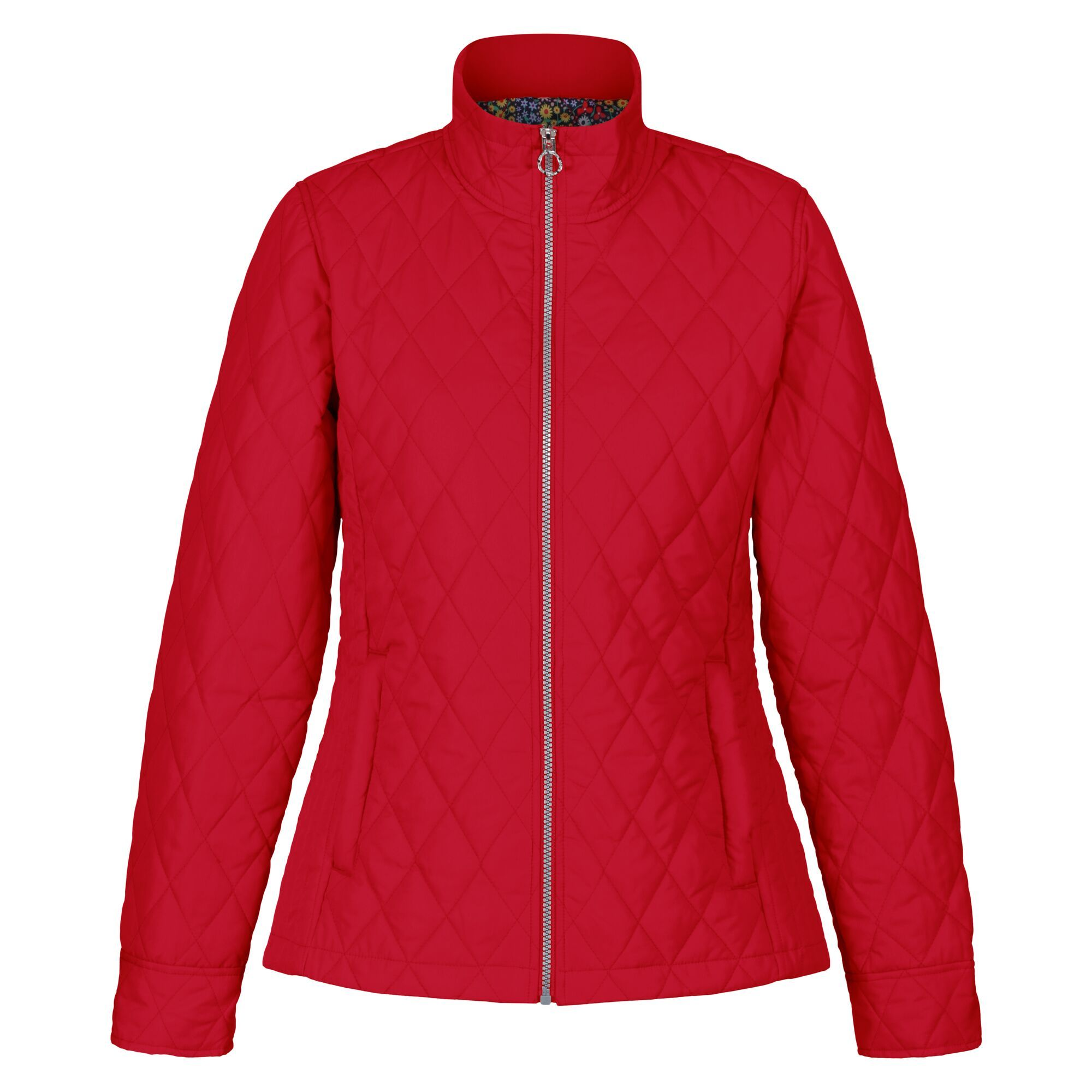 Regatta Womens/Ladies Charna Diamond Quilted Jacket (12 UK) (True Red)