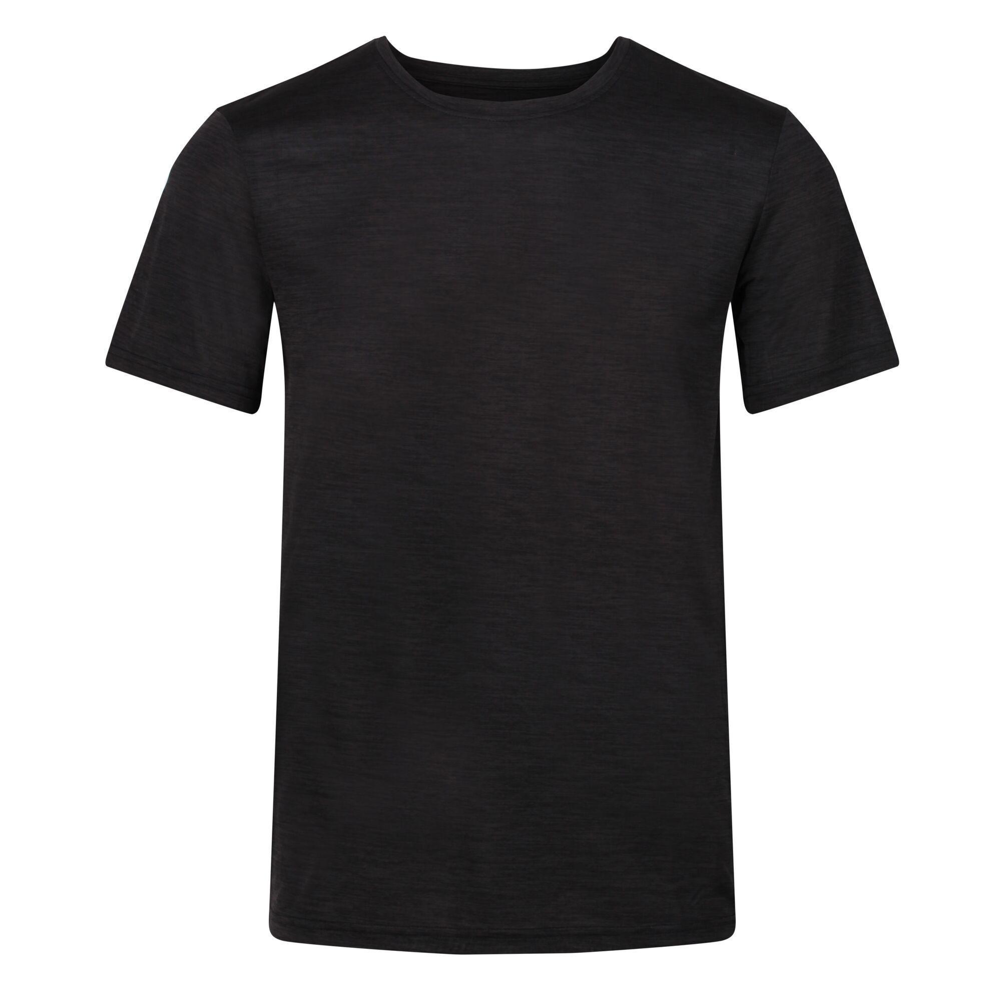 Regatta Mens Fingal Edition Marl T-Shirt (S) (Black Marl)