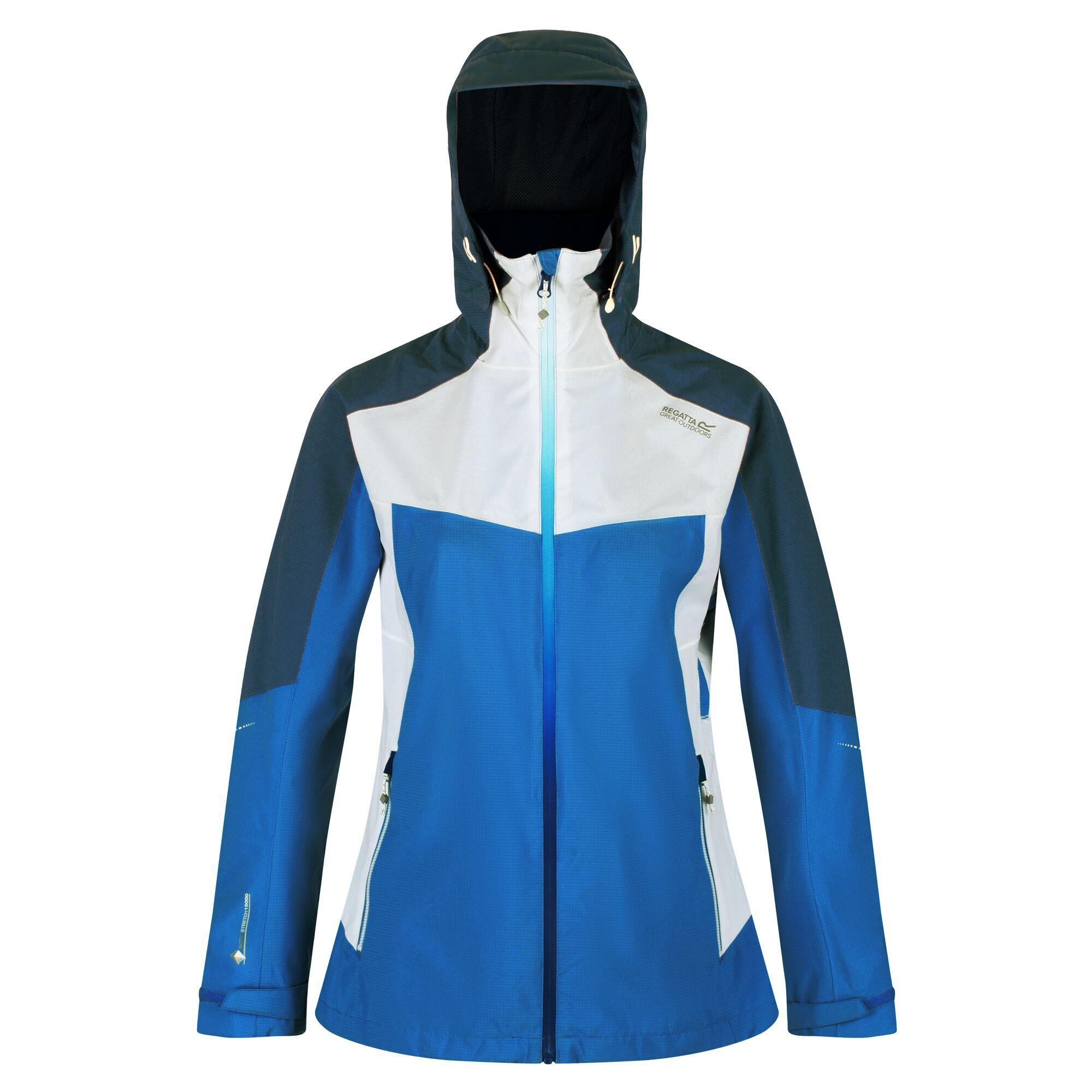 Regatta Womens/Ladies Oklahoma VI Waterproof Jacket (18 UK) (Blue Aster/Dark Denim)